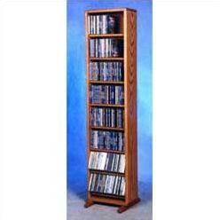 800 Series 208 CD Dowel Multimedia Storage Rack Color: Dark