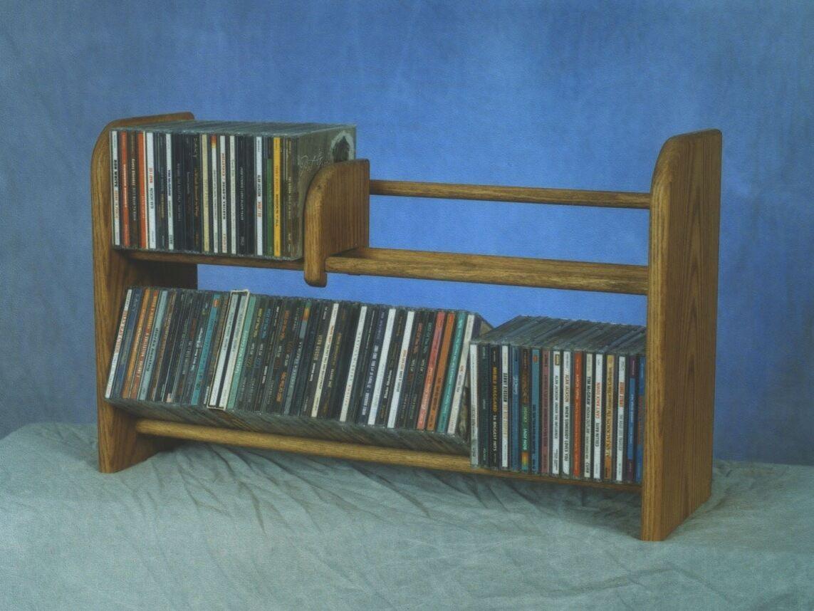 200 Series 110 CD Multimedia Tabletop Storage Rack Color: Natural