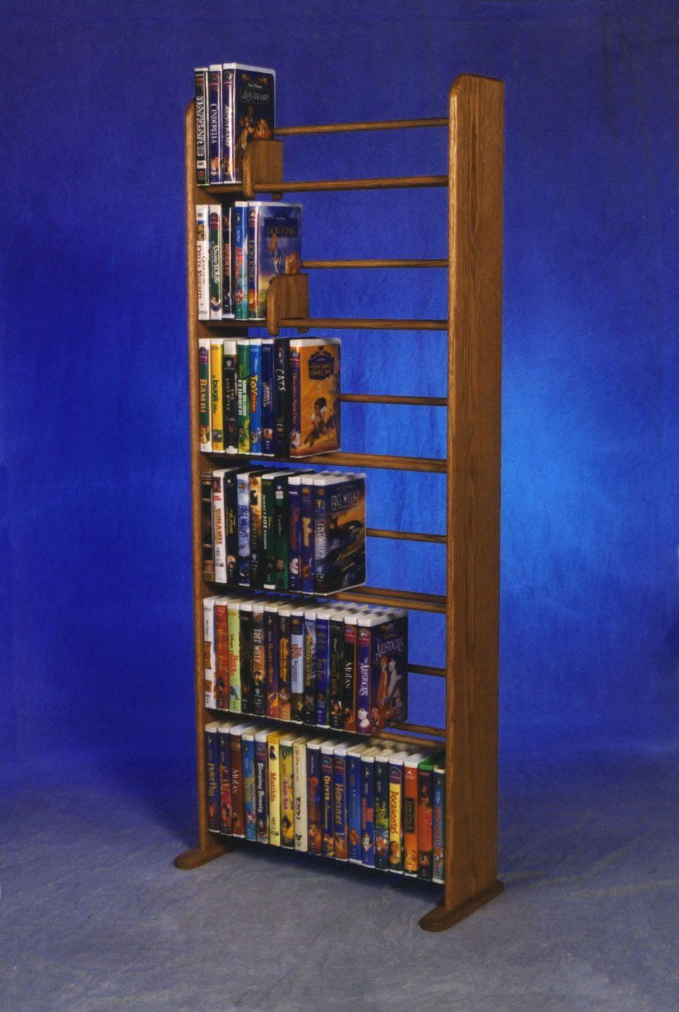 Delux VHS Dowel Multimedia Storage Rack Color: Unfinished