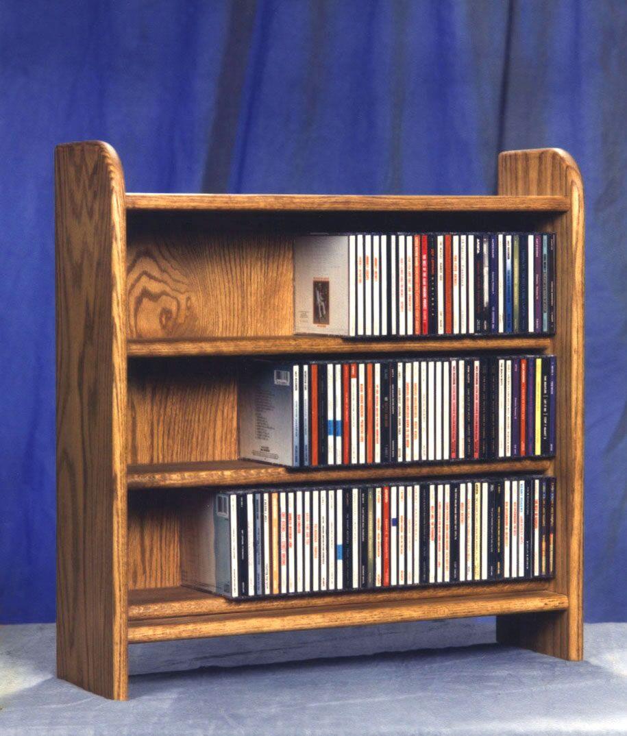 300 Series 165 CD Multimedia Tabletop Storage Rack Color: Unfinished