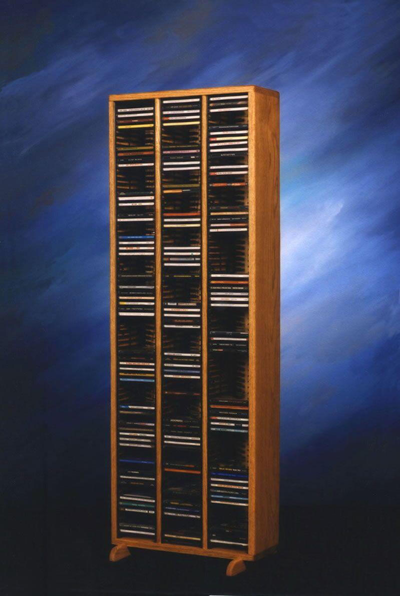 300 Series 240 CD Multimedia Storage Rack Color: Unfinished