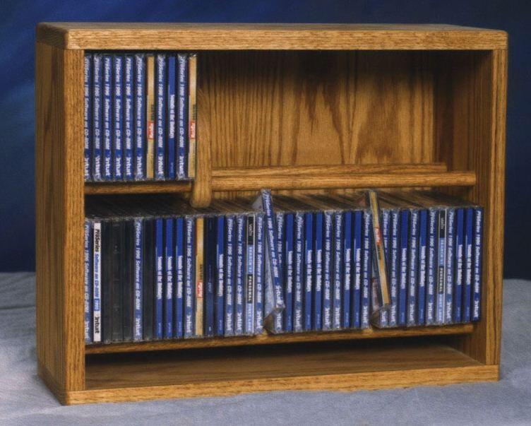 200 Series 80 CD Multimedia Storage Rack Color: Dark