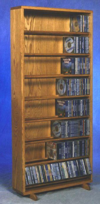 800 Series 440 CD Dowel Multimedia Storage Rack Color: Natural