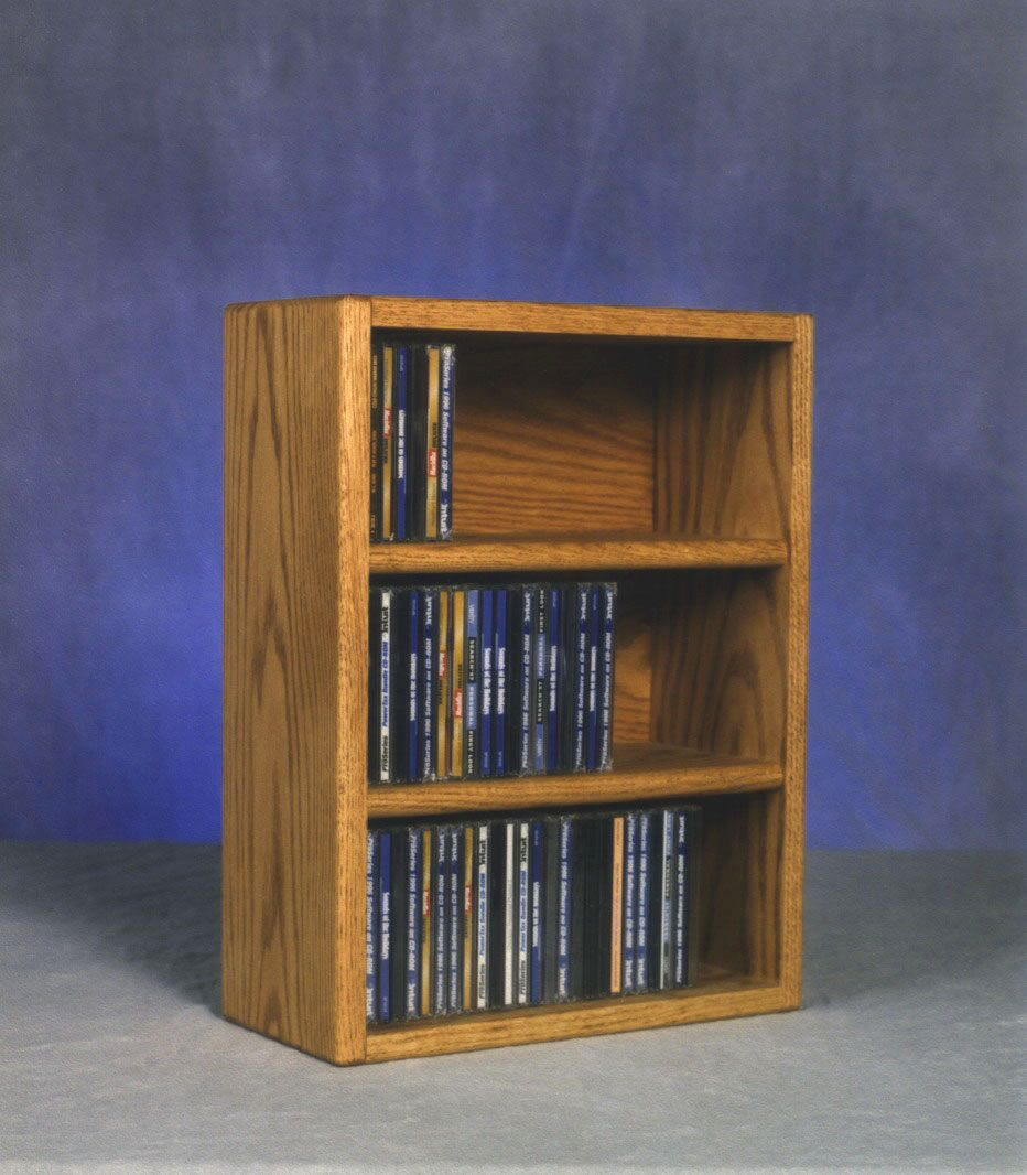 300 Series 78 CD Multimedia Tabletop Storage Rack Color: Unfinished
