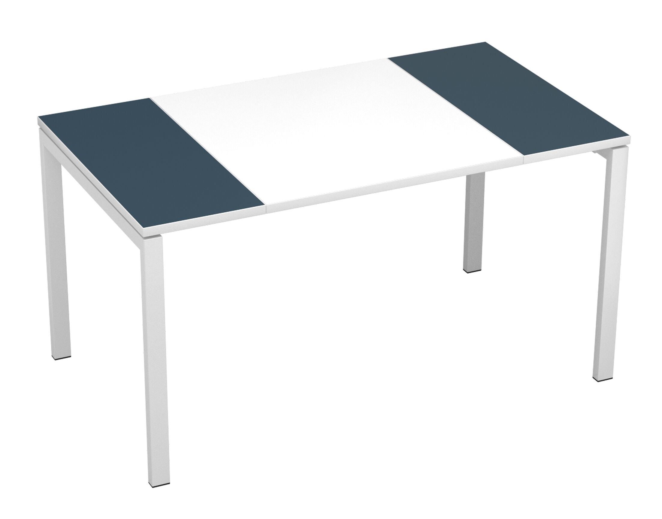 EasyDesk Training Table Finish: White / Antracite, Size: 30