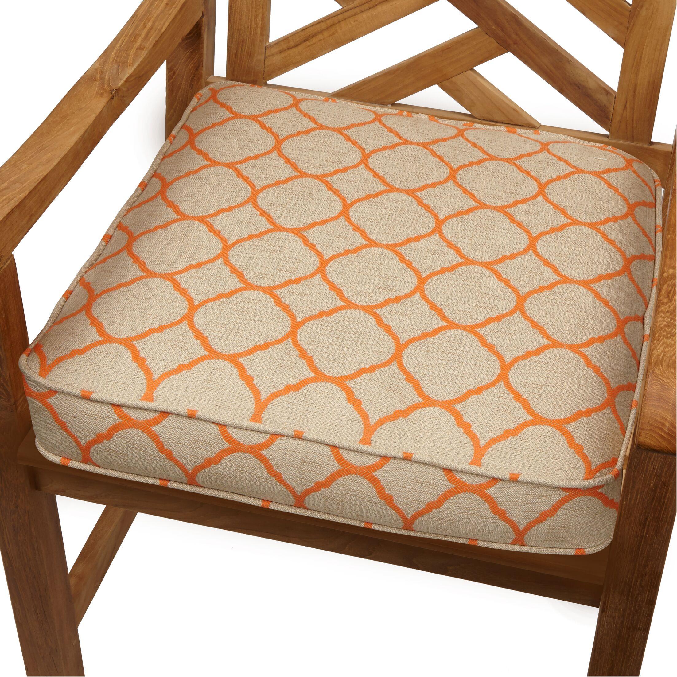 Indoor/Outdoor Sunbrella Dining Chair Cushion Size: 20