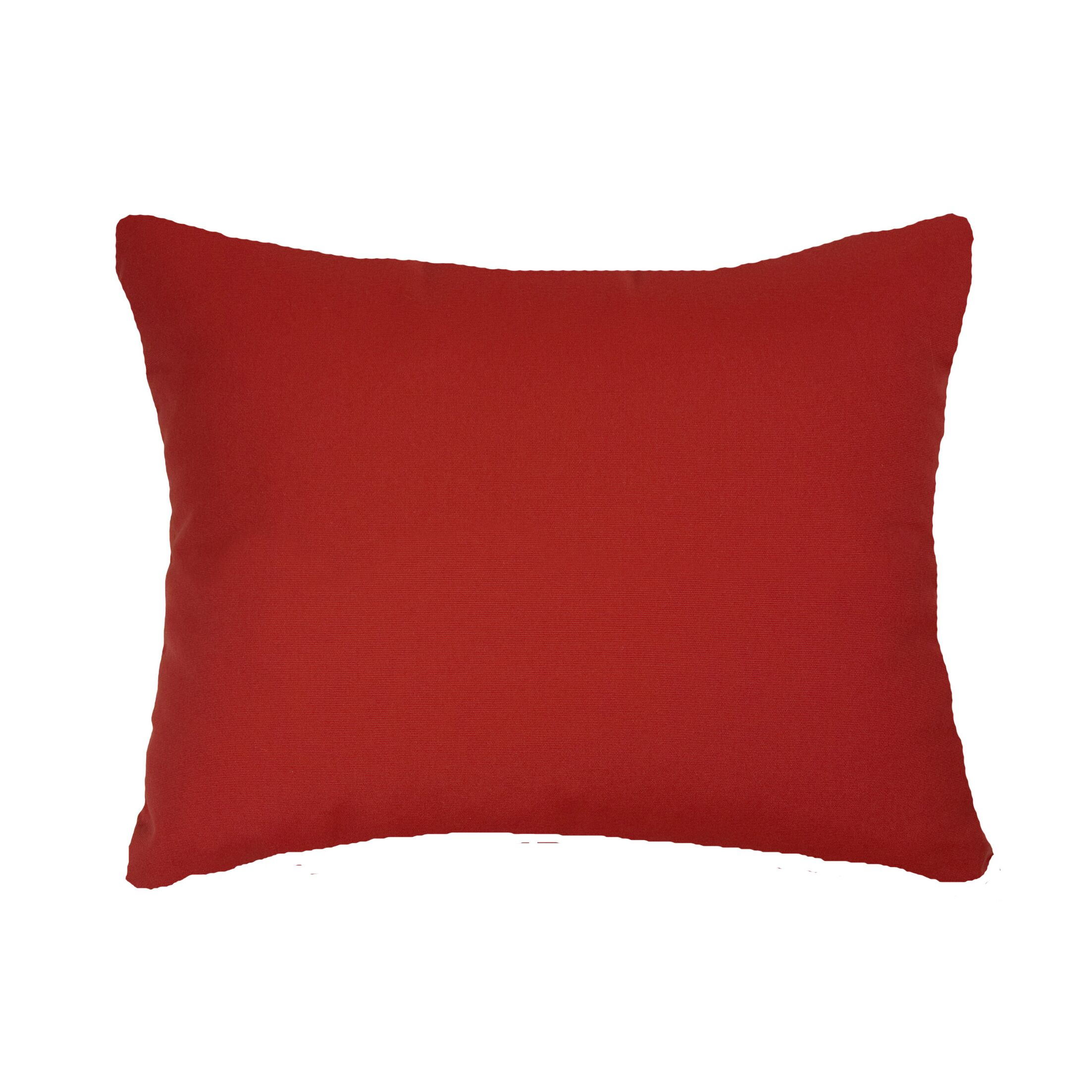 Knife Edge Indoor/Outdoor Acrylic Throw Pillow Color: Jockey Red