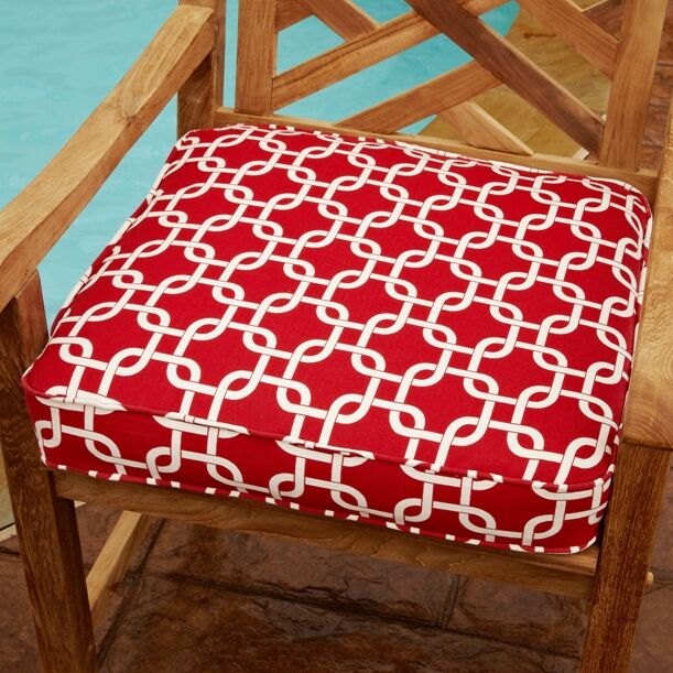 Replogle Indoor/Outdoor Dining Chair Cushion Size: 3