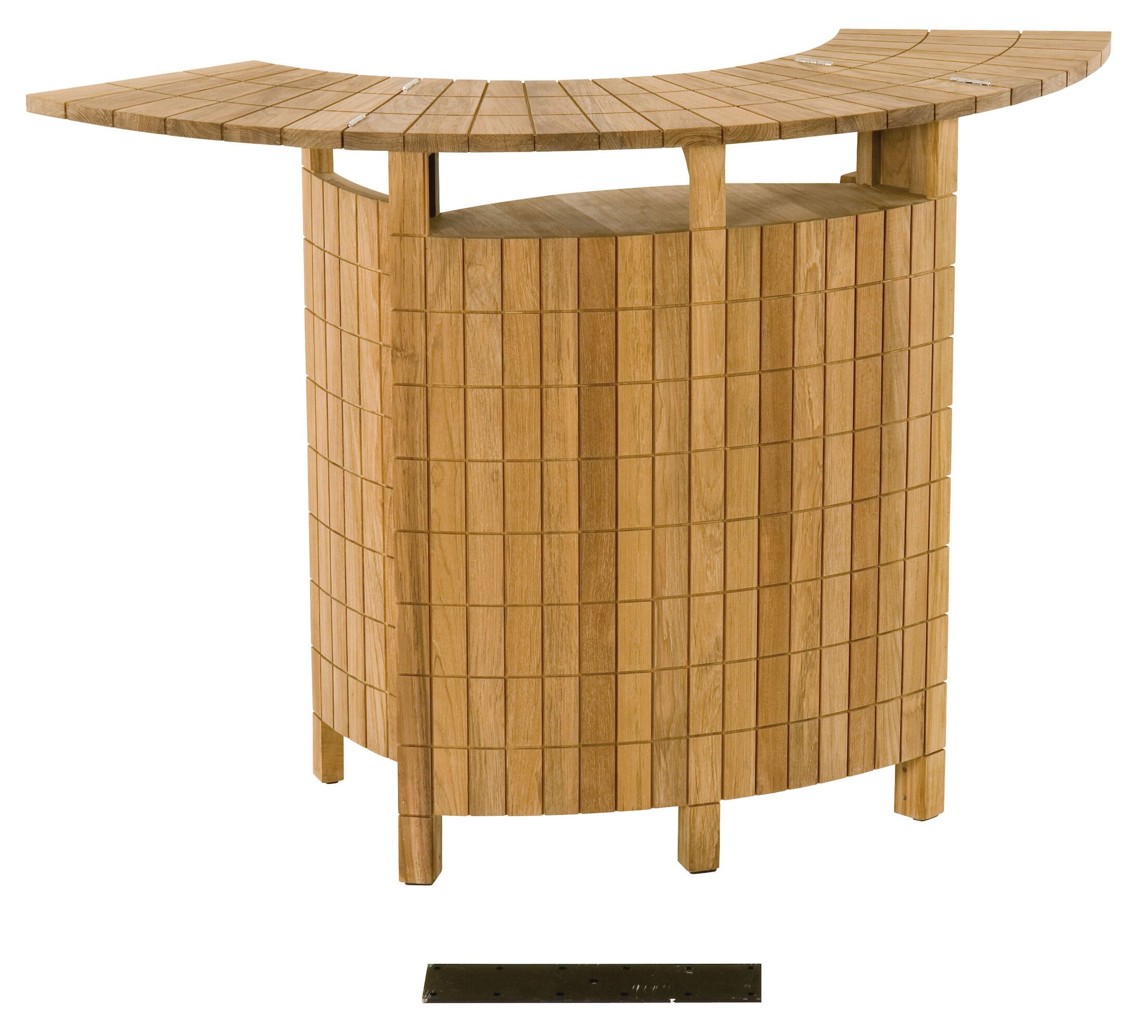 Teak Demi Lune II Home Bar