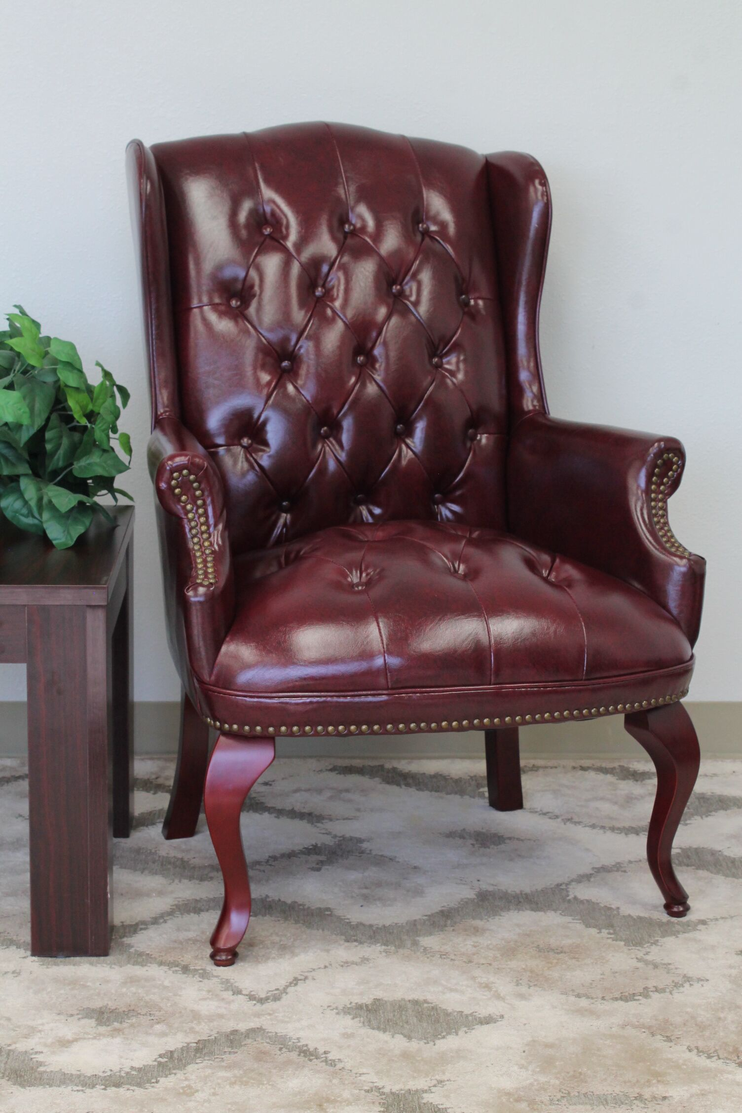 Sedgemoor Traditional Series Lounge Chair Upholstery: Oxblood Vinyl