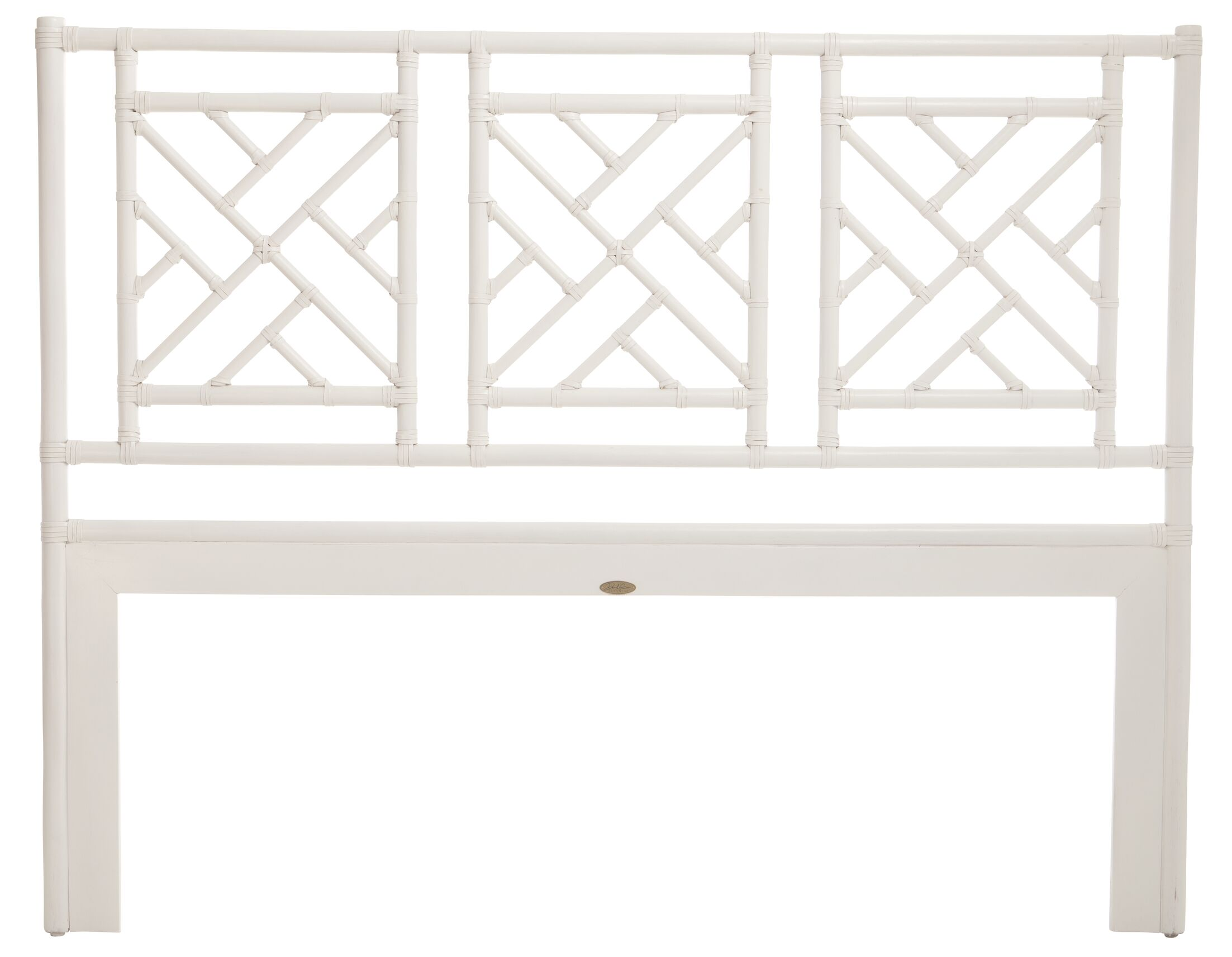 Chinese Chippendale Open-Frame Headboard Size: King, Color: White