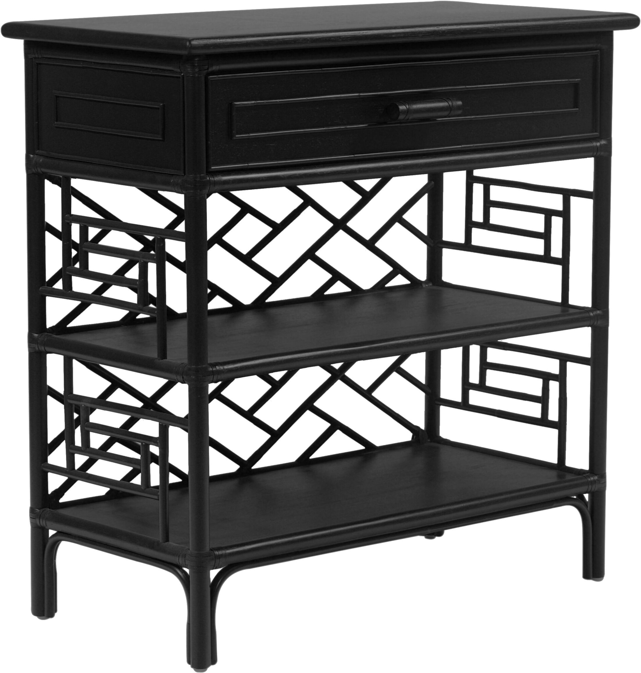 Chippendale End Table Finish: Black