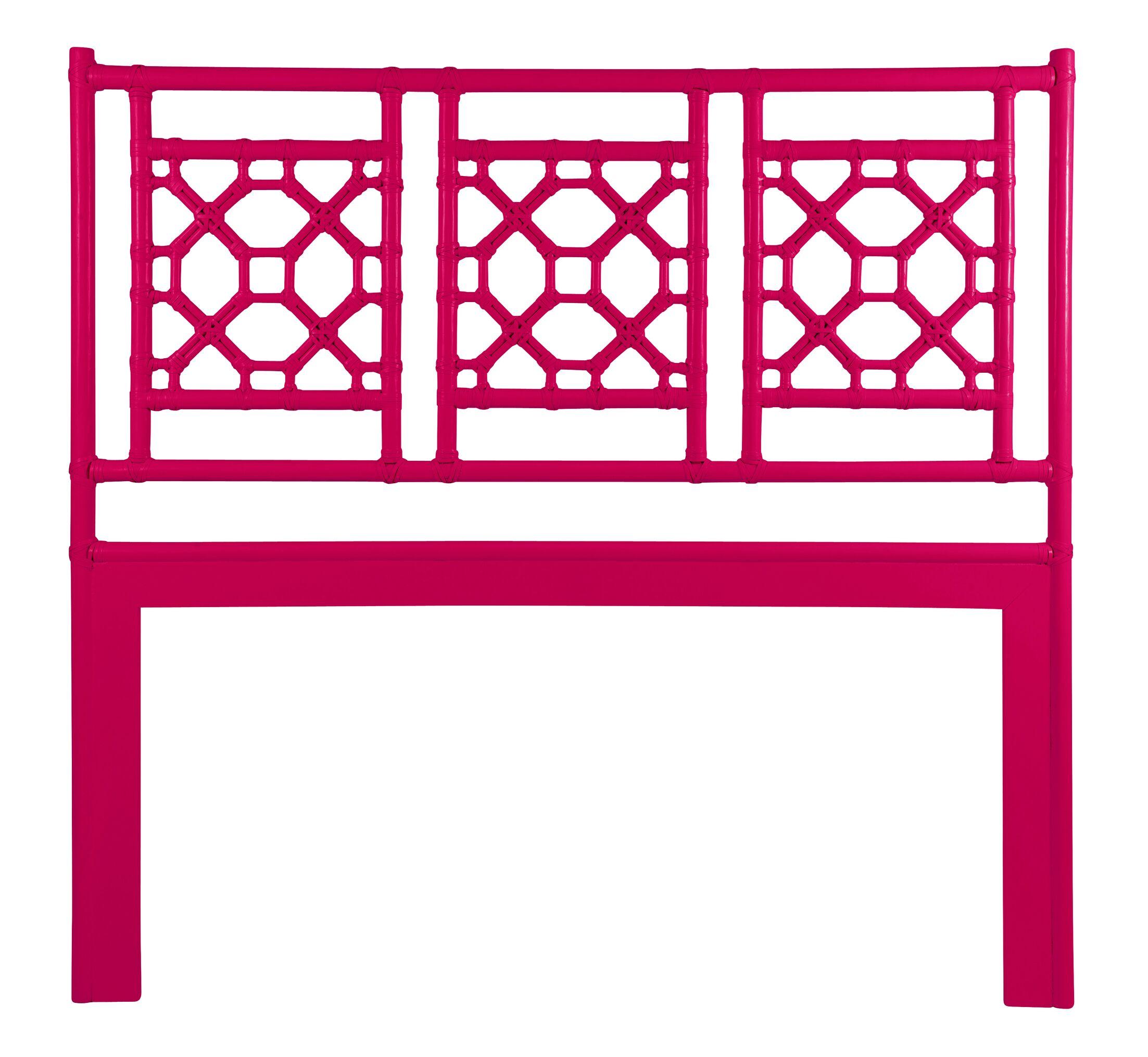 Lattice Open-Frame Headboard Size: Queen, Color: Hisbiscus Pink
