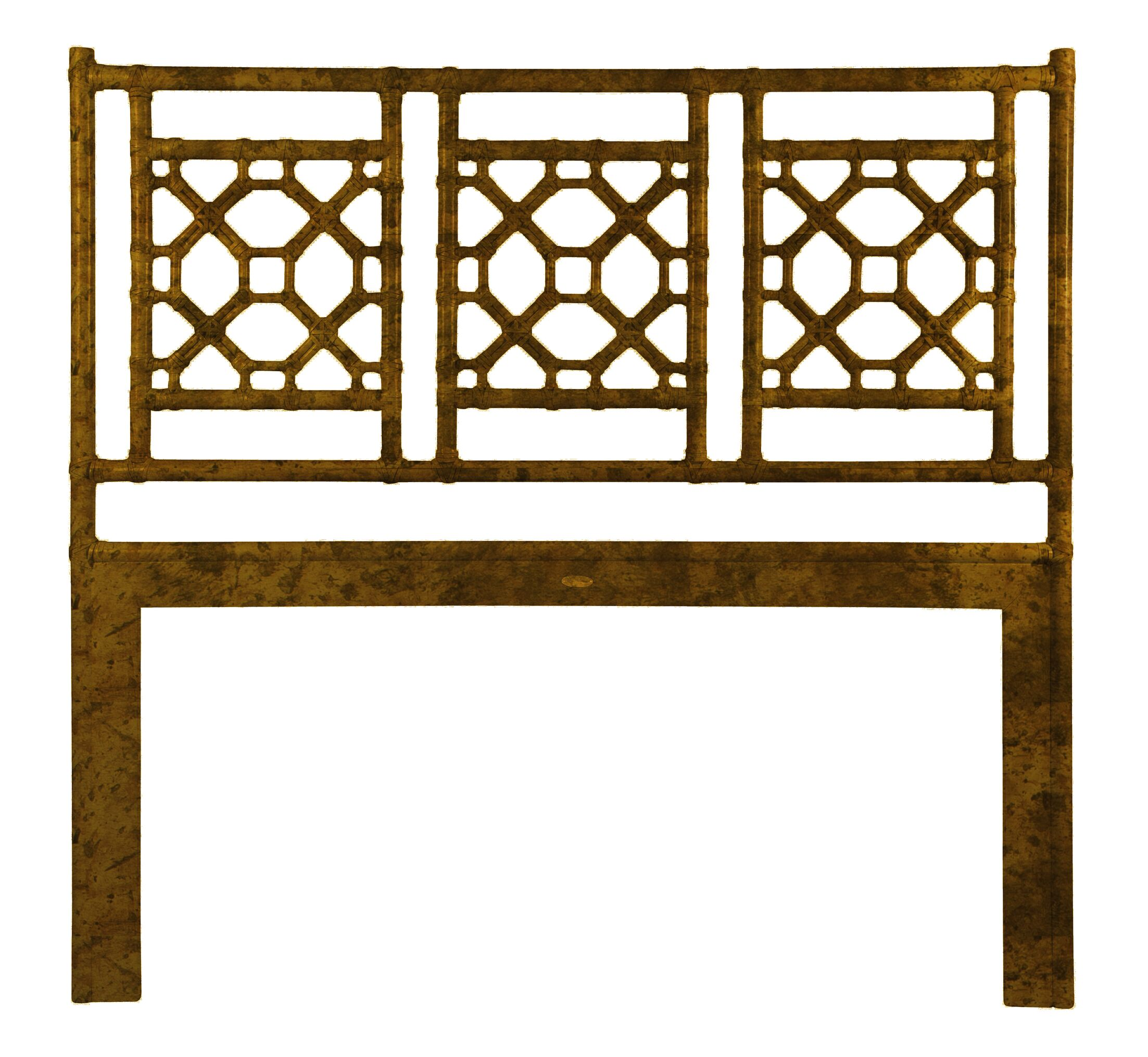 Lattice Open-Frame Headboard Size: King, Color: Tortoise
