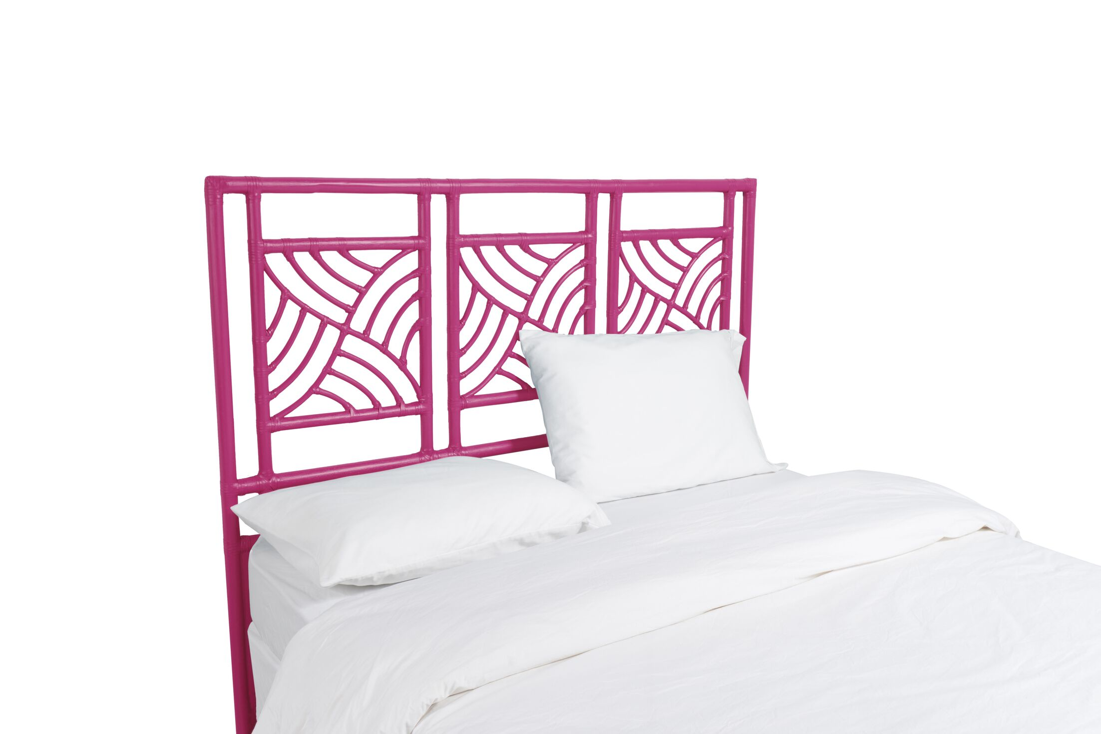 Whirlwind Open-Frame Headboard Color: Hot Pink, Size: Queen