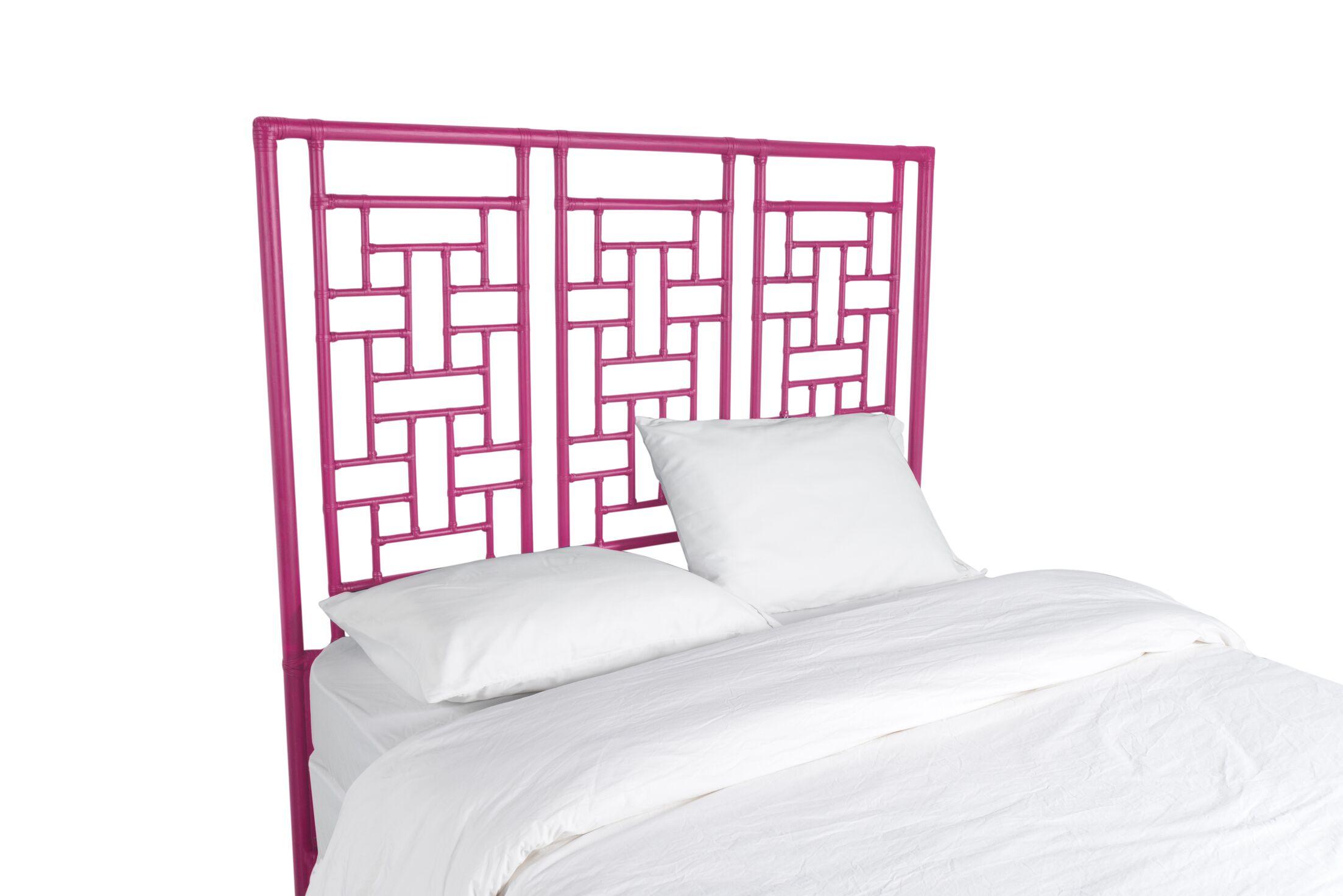 Ohana Open-Frame Headboard Color: Hot Pink, Size: King