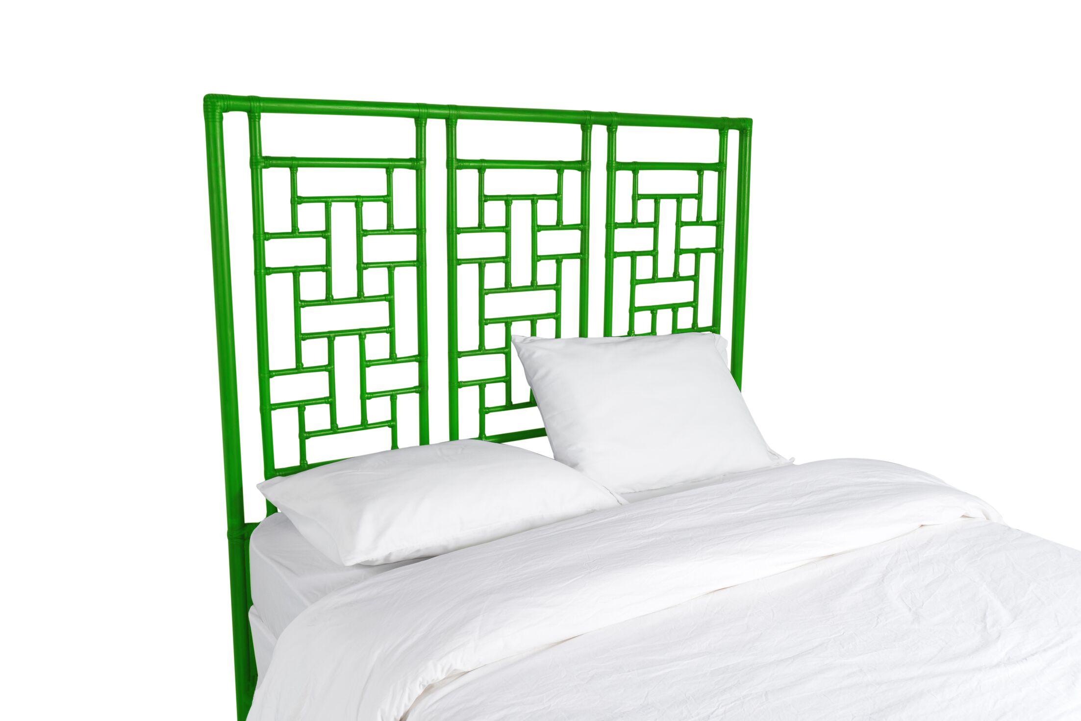Ohana Open-Frame Headboard Color: Bright Green, Size: Queen