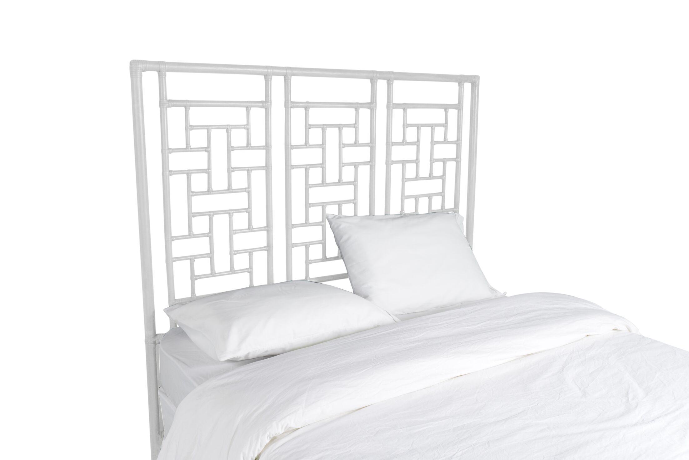 Ohana Open-Frame Headboard Color: Bright White, Size: Queen