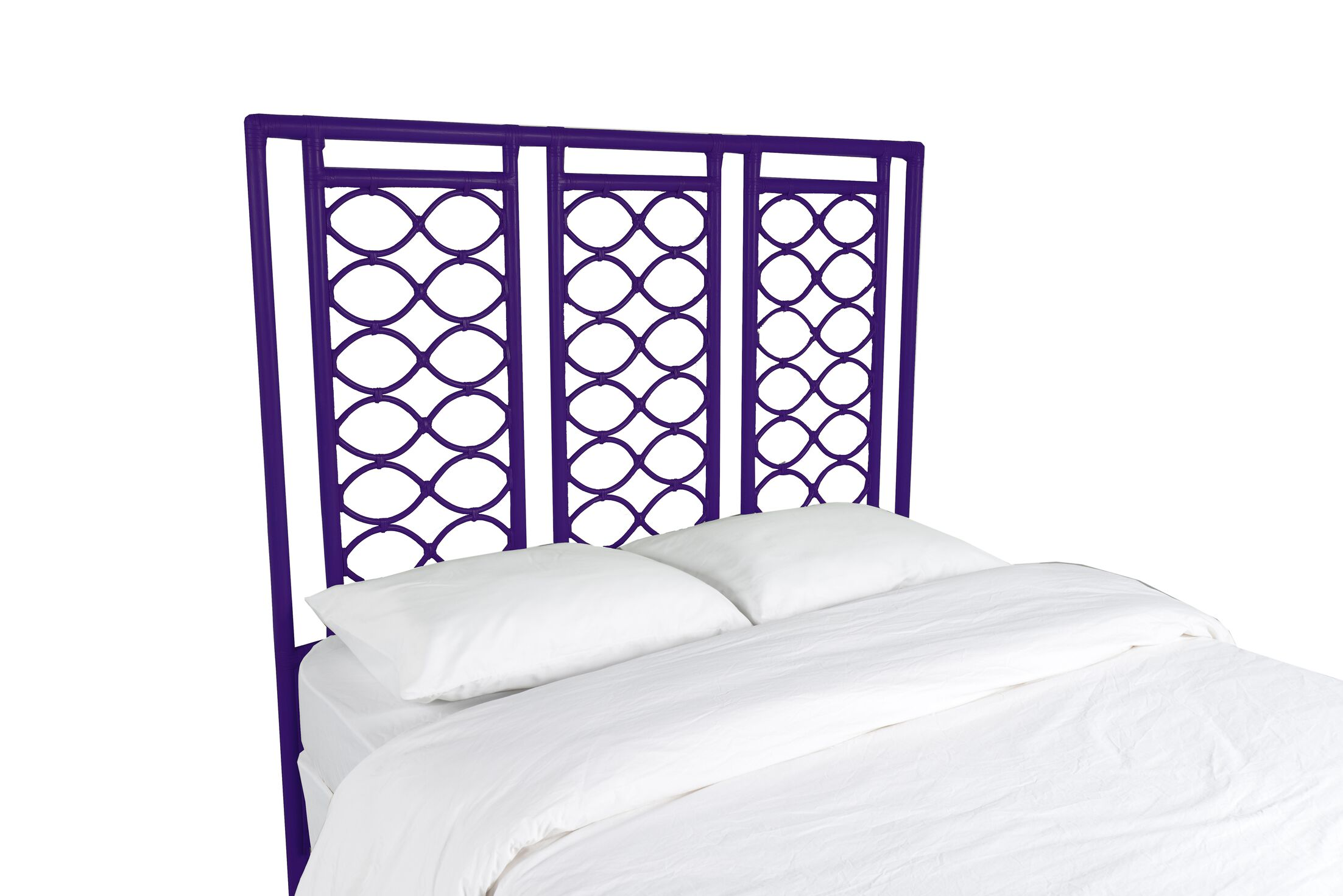 Infinity Open-Frame Headboard Color: Perfect Purple, Size: Queen