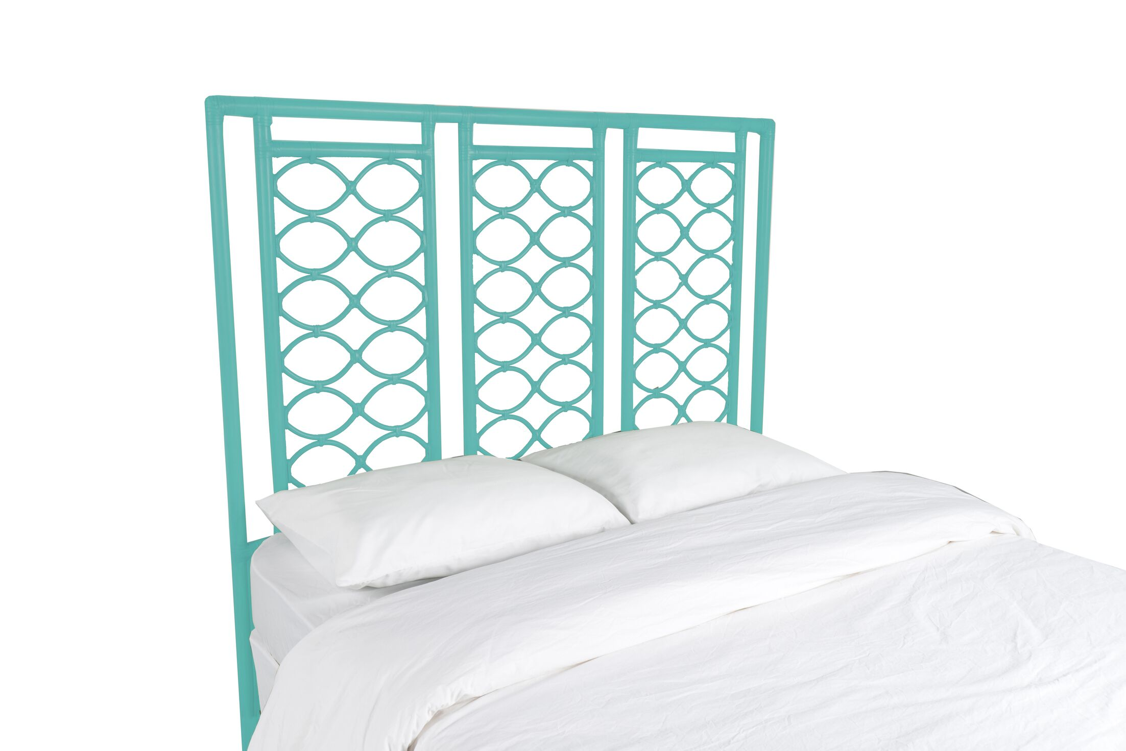 Infinity Open-Frame Headboard Color: Turquoise, Size: Twin