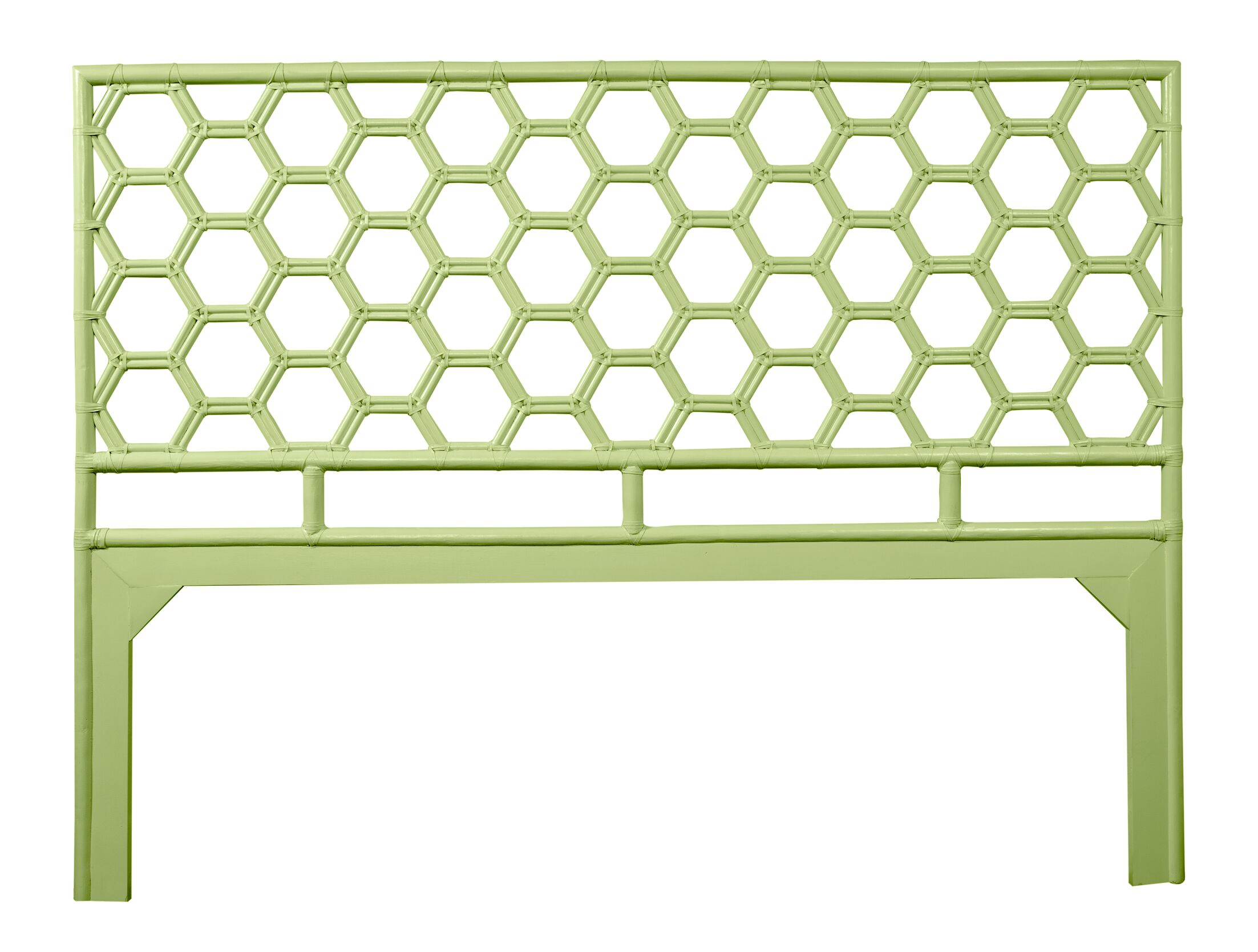 Honeycomb Open-Frame Headboard Color: Celery Green, Size: King
