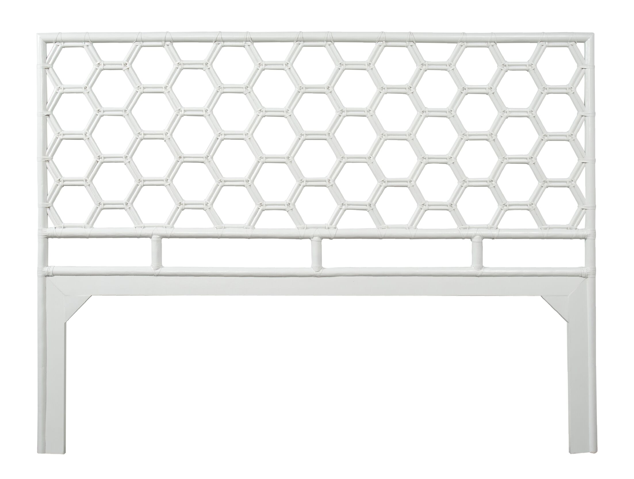 Honeycomb Open-Frame Headboard Color: Bright White, Size: Twin