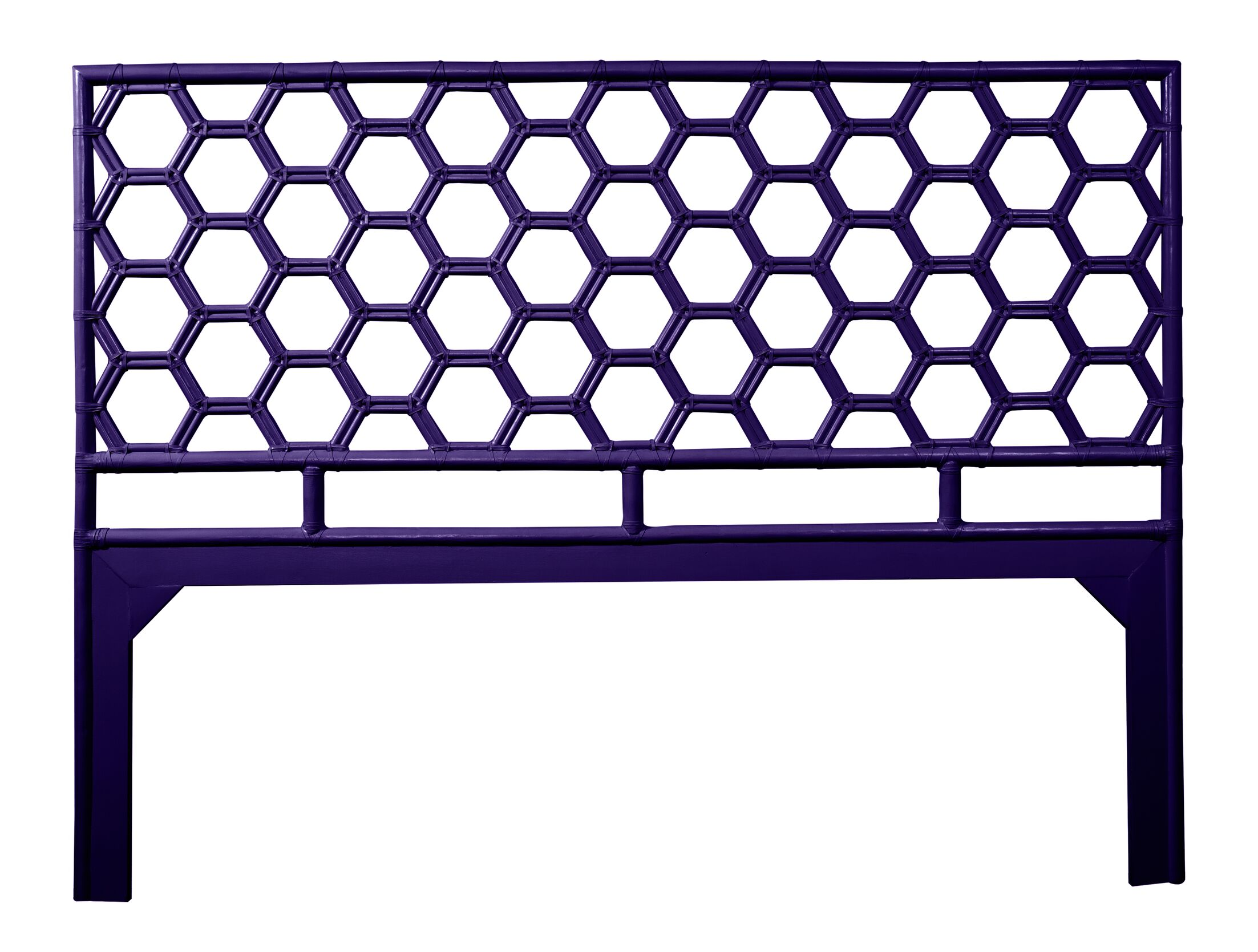 Honeycomb Open-Frame Headboard Color: Perfect Purple, Size: Queen