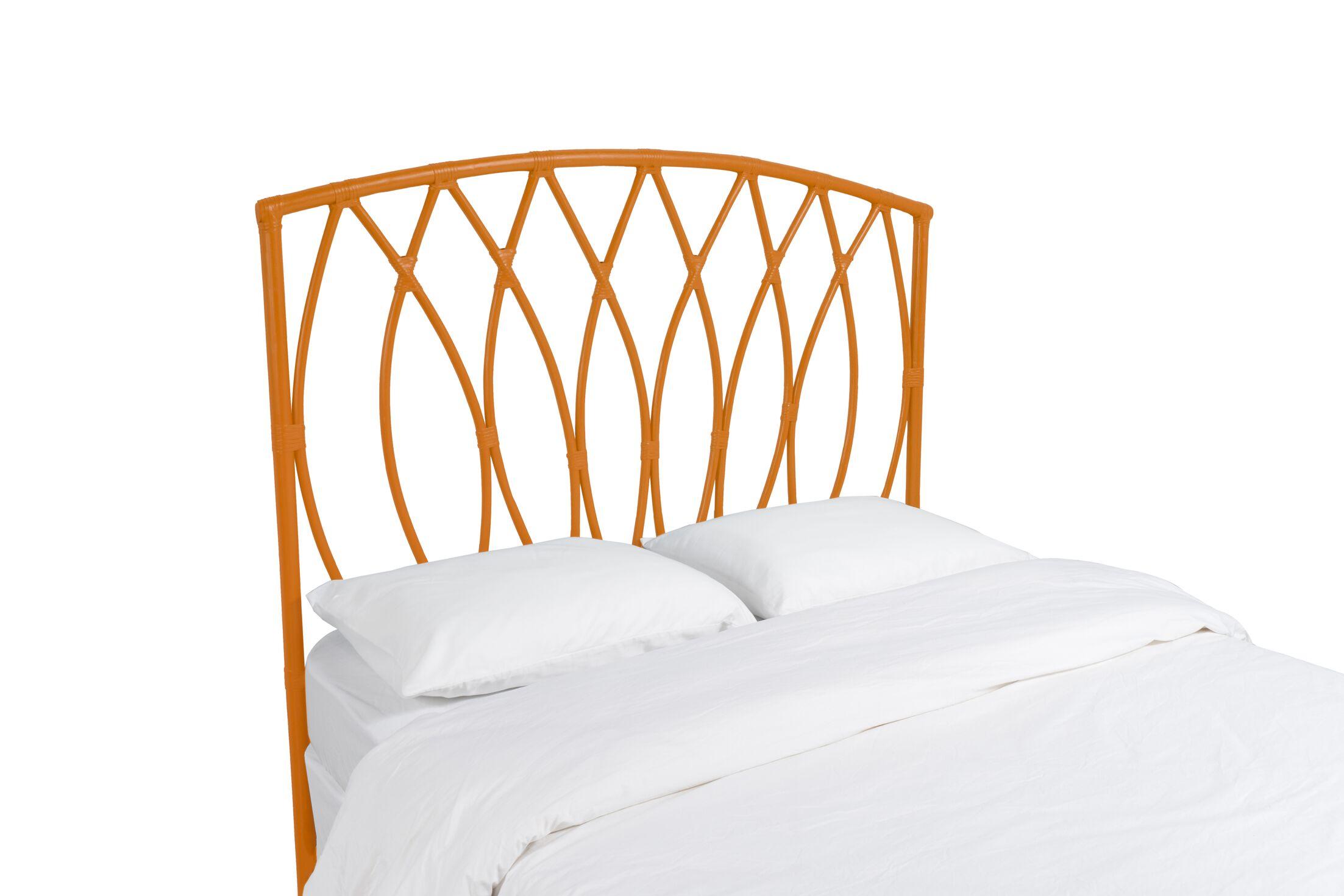 Royal Palm Open Frame Headboard Color: Citrus Orange, Size: King