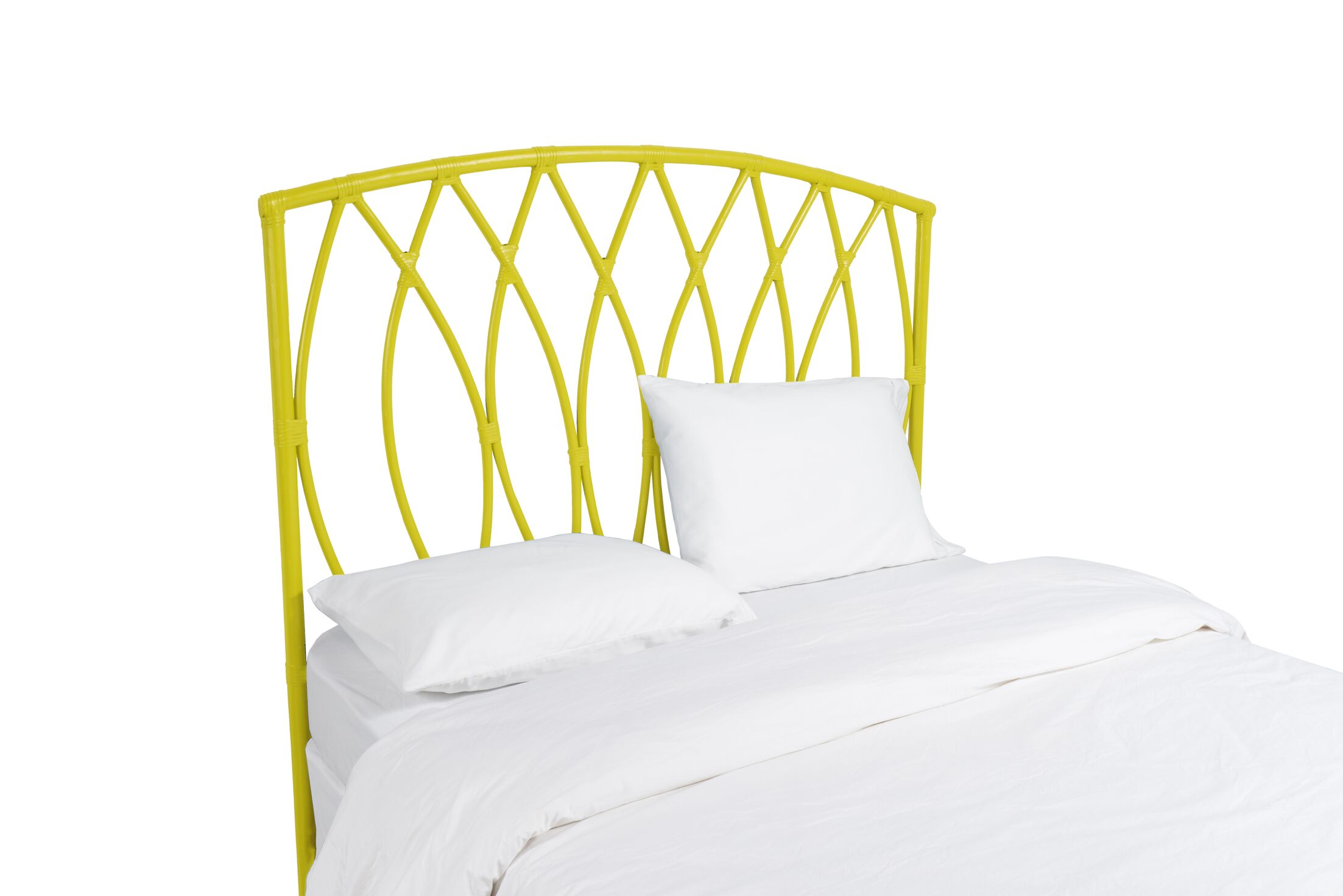 Royal Palm Open Frame Headboard Color: Sunflower Yellow, Size: King