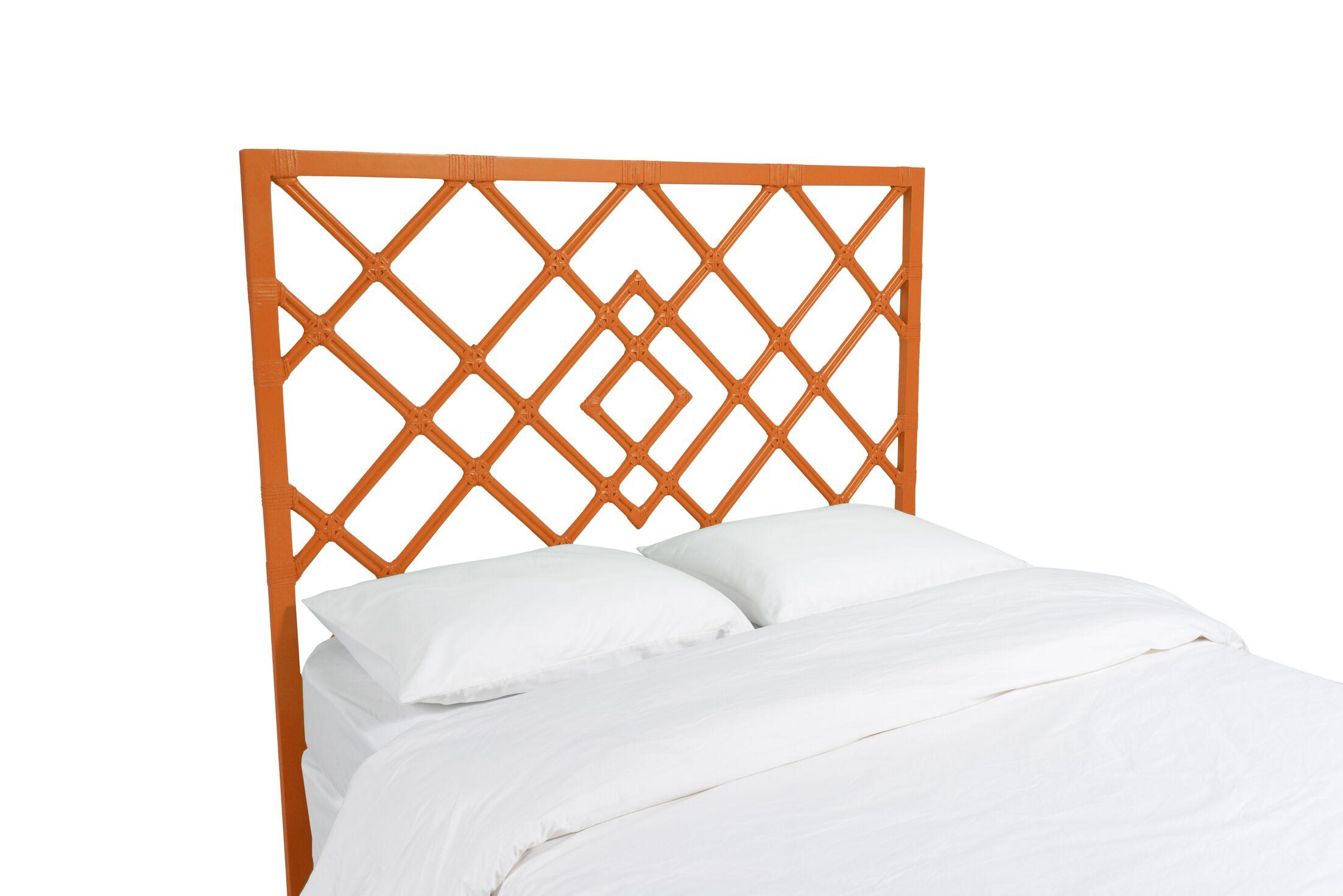 Darien Open Frame Headboard Color: Citrus Orange, Size: Twin