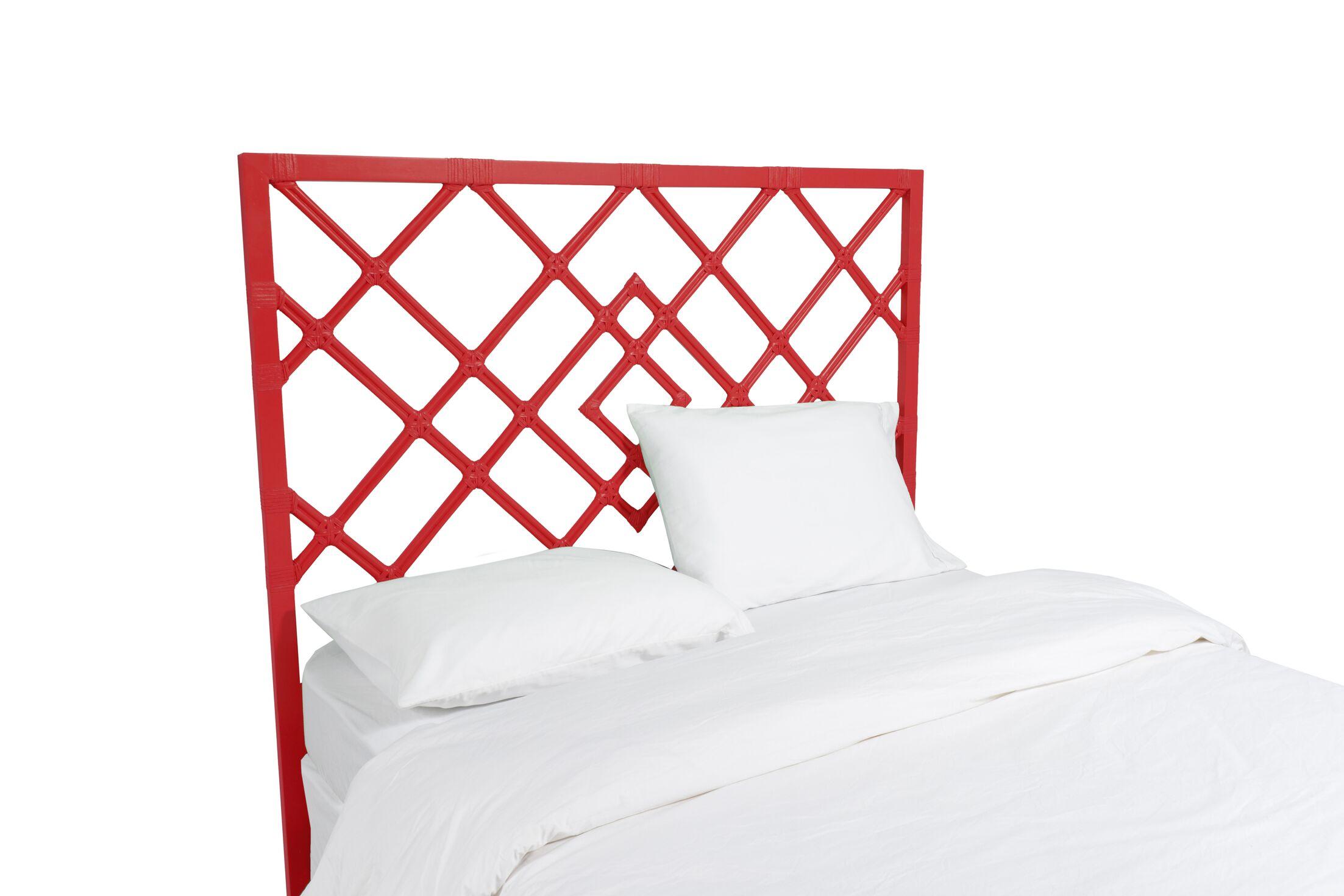 Darien Open Frame Headboard Color: Fire Red, Size: King