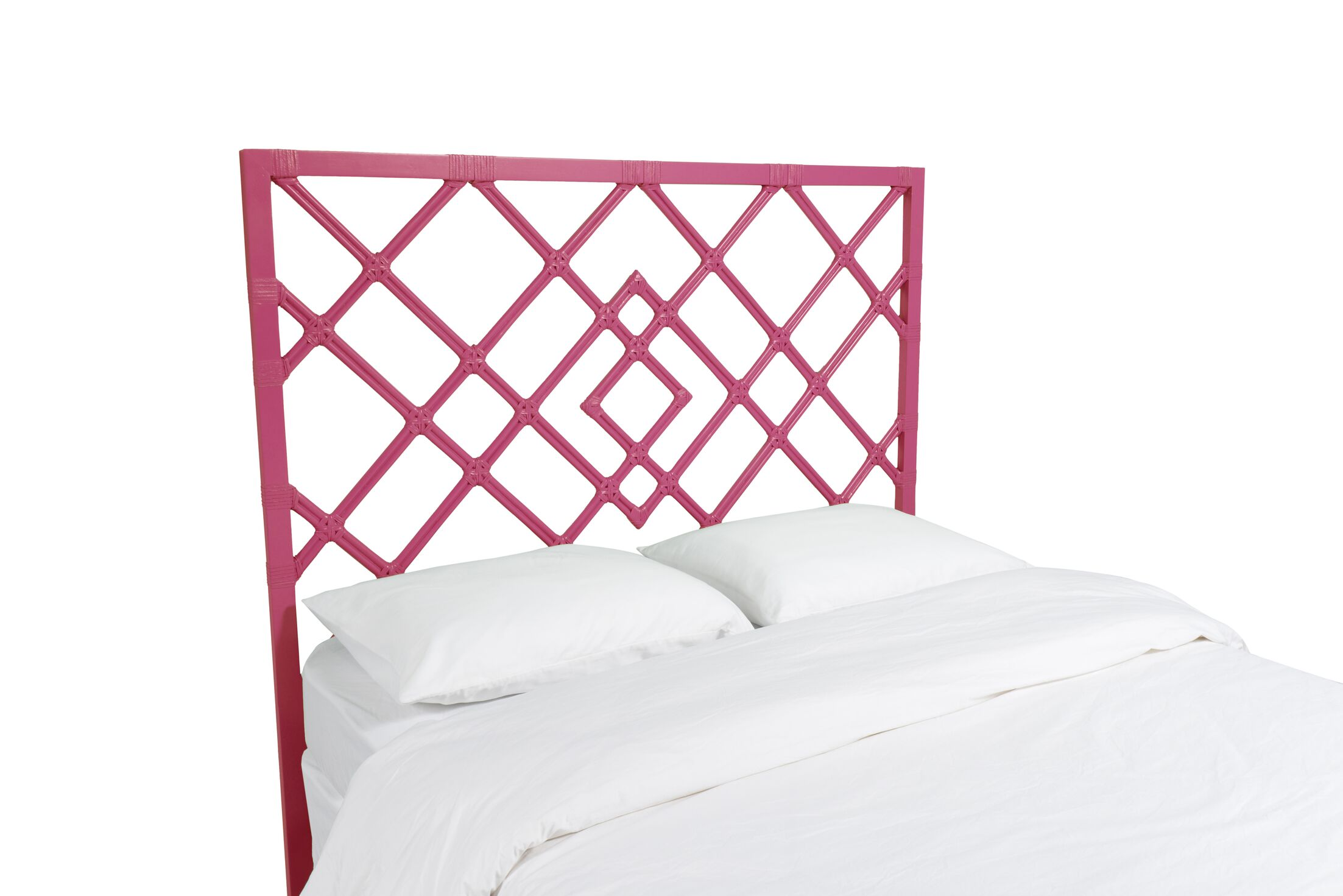 Darien Open Frame Headboard Color: Hot Pink, Size: Queen