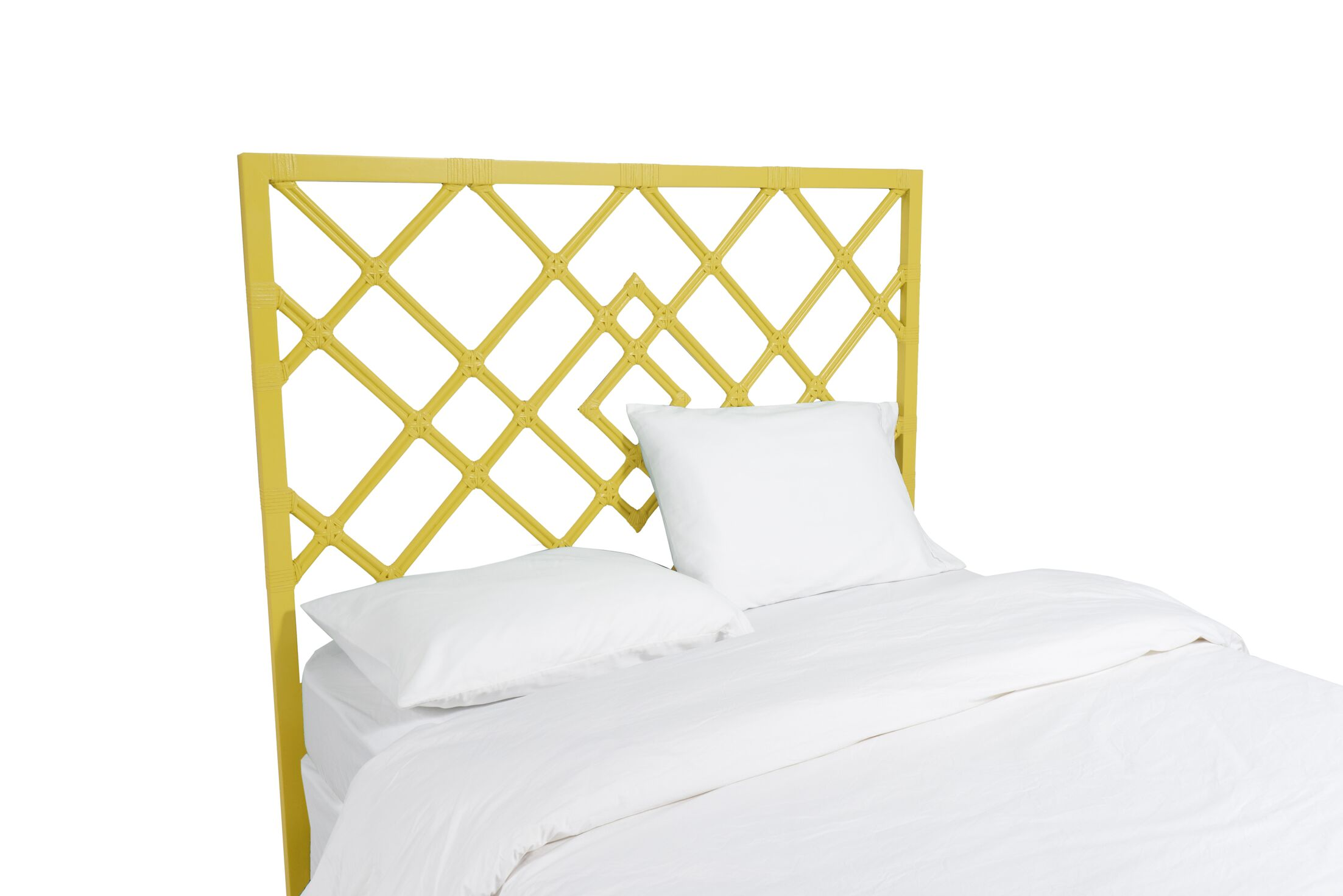 Darien Open Frame Headboard Color: Sunflower Yellow, Size: Queen