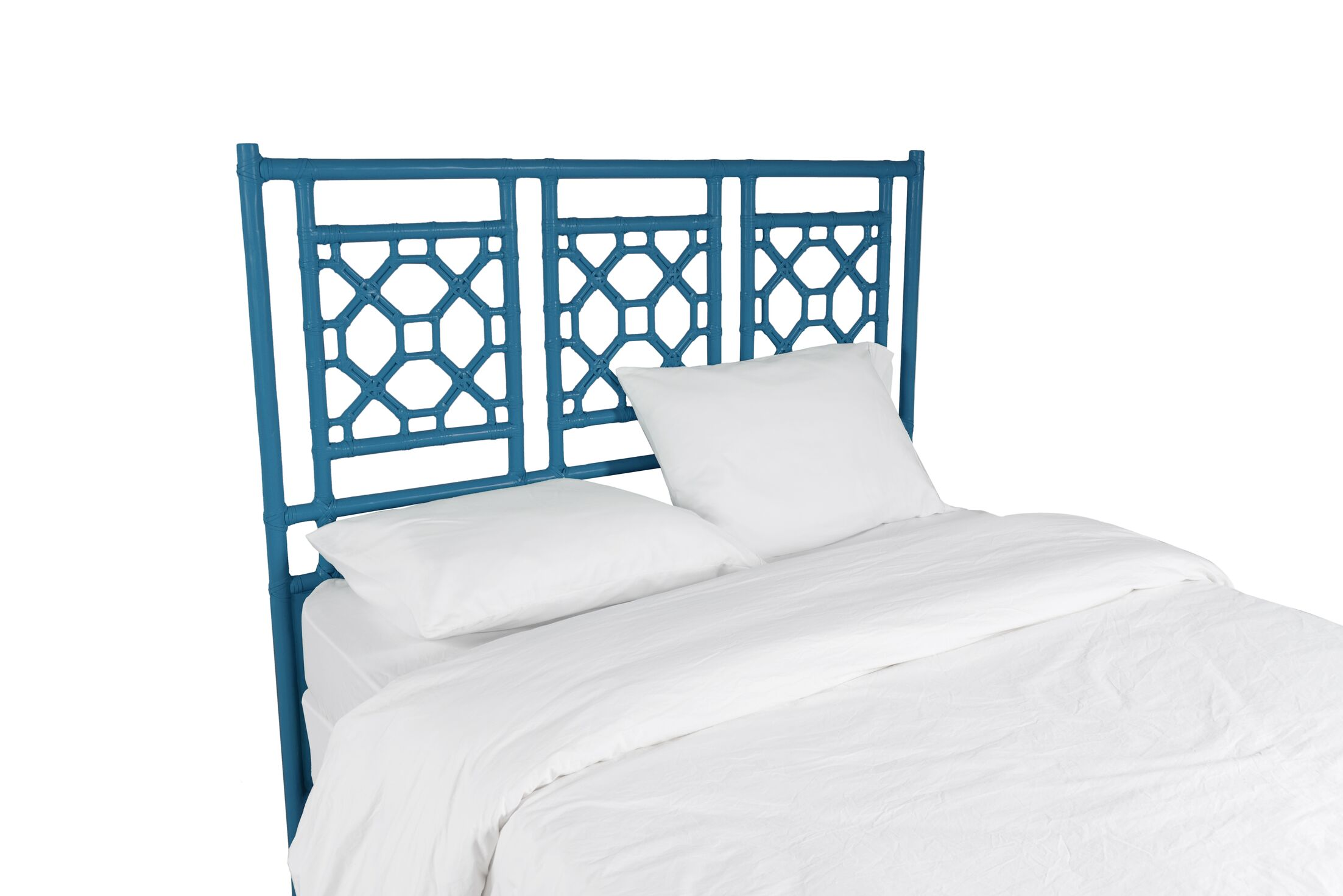 Lattice Open-Frame Headboard Size: King, Color: Surf Blue