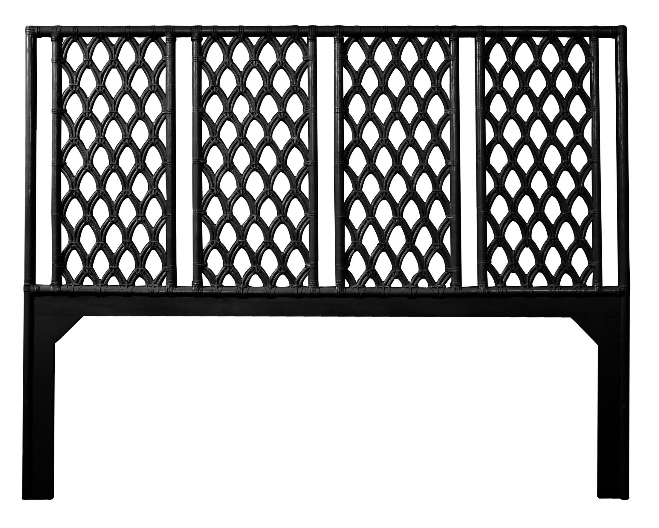 Casablanca Open-Frame Headboard Color: Black, Size: Twin