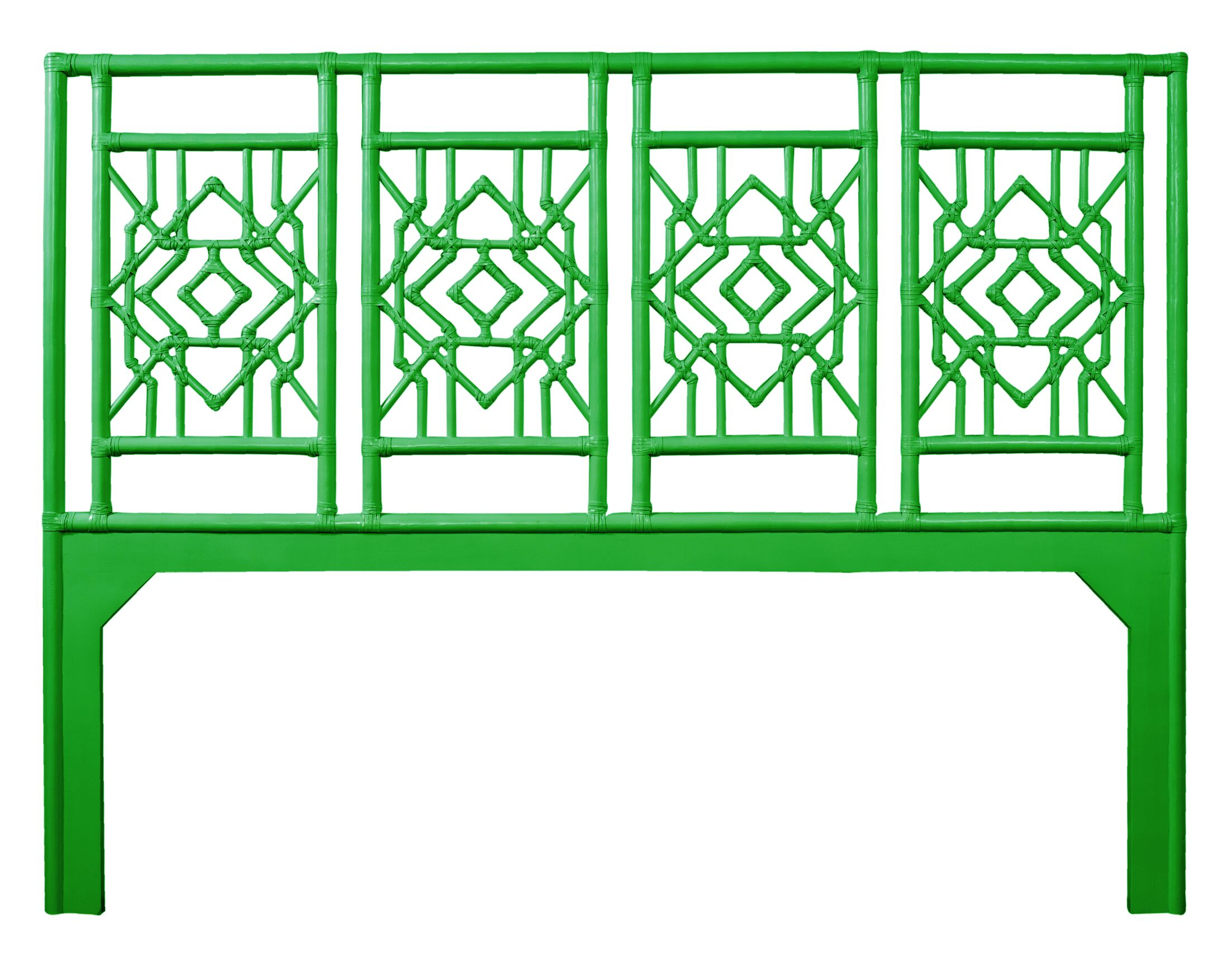 Tulum Open-Frame Headboard Color: Bright Green, Size: Queen