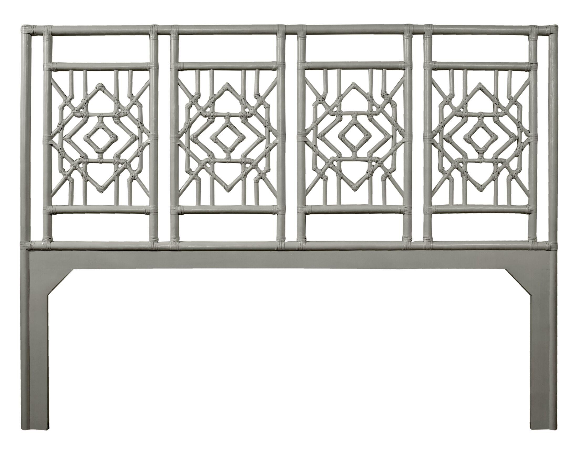 Tulum Open-Frame Headboard Color: Steel Gray, Size: King