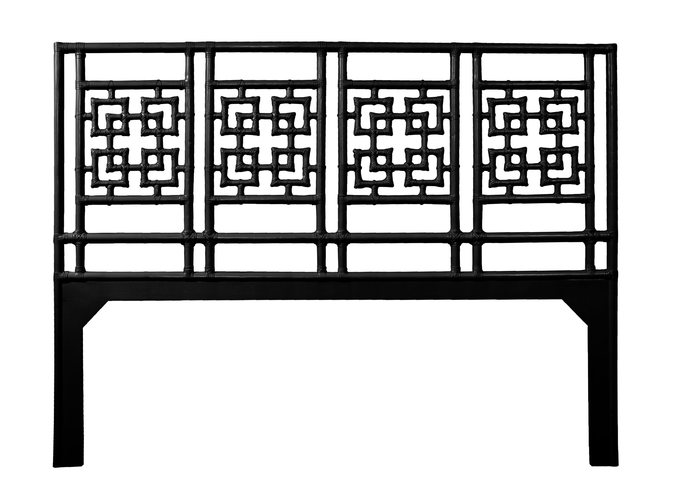 Palm Springs Open-Frame Headboard Color: Black, Size: Twin