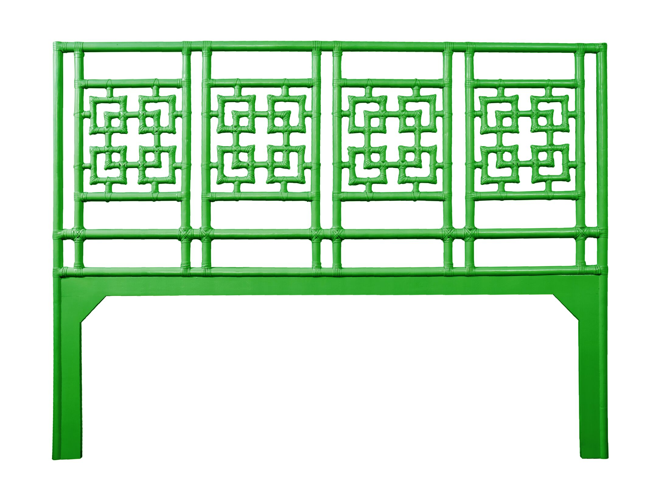 Palm Springs Open-Frame Headboard Color: Bright Green, Size: King