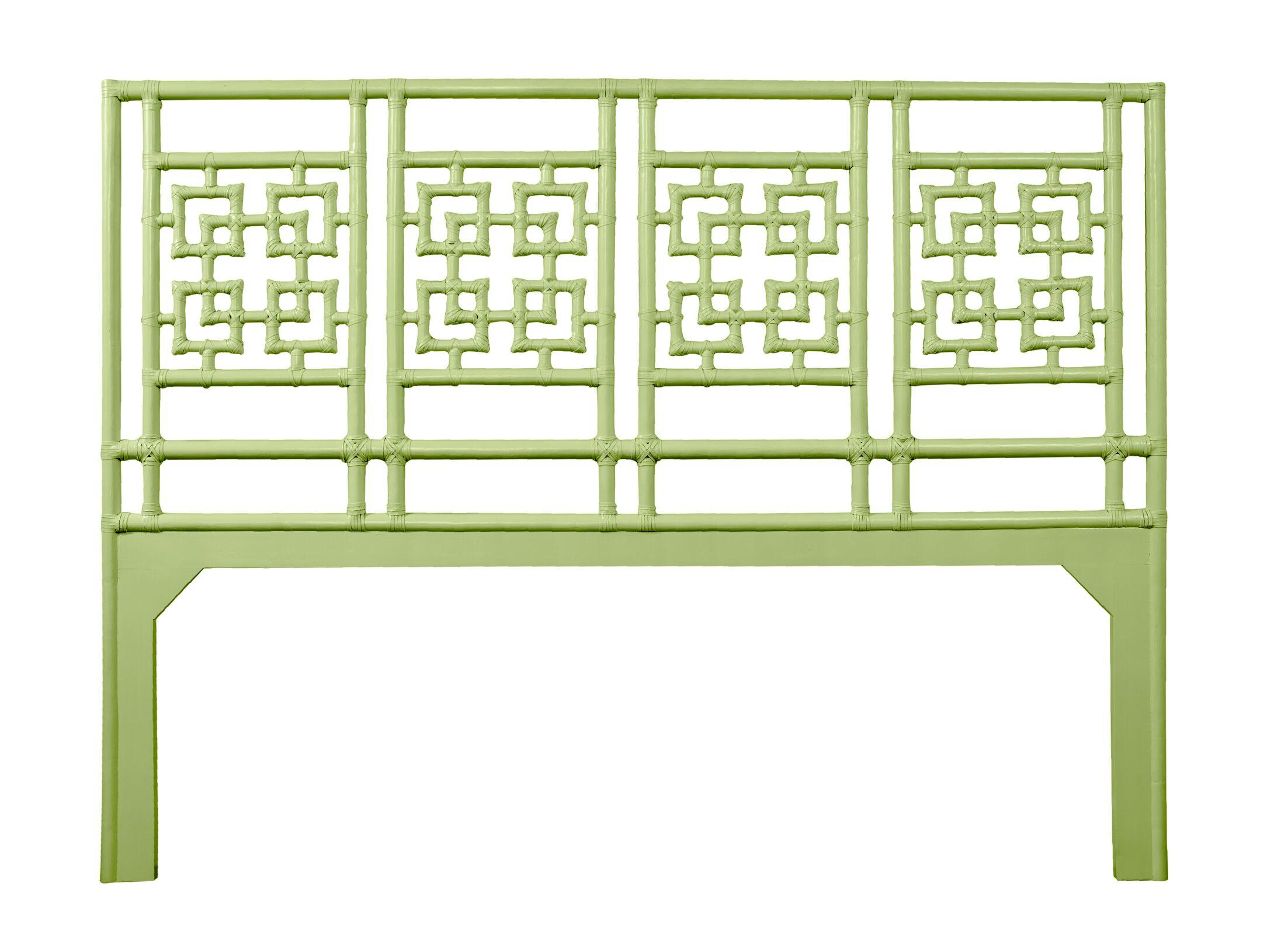 Palm Springs Open-Frame Headboard Color: Celery Green, Size: Queen