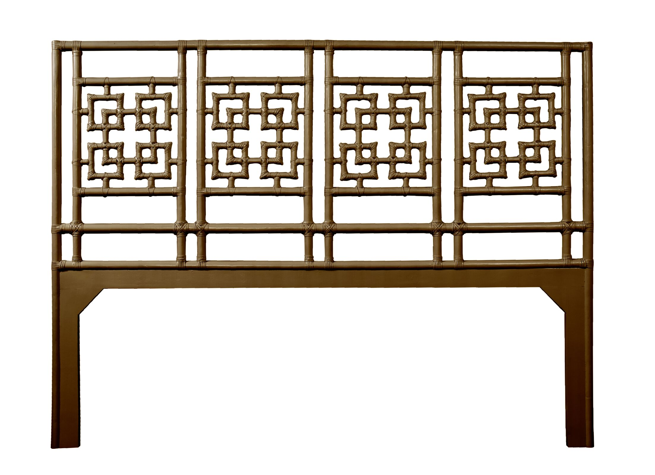 Palm Springs Open-Frame Headboard Color: Coffee Brown, Size: King