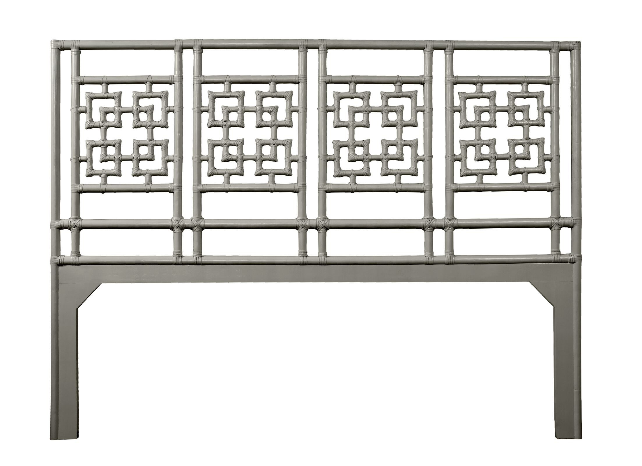 Palm Springs Open-Frame Headboard Color: Steel Gray, Size: Queen
