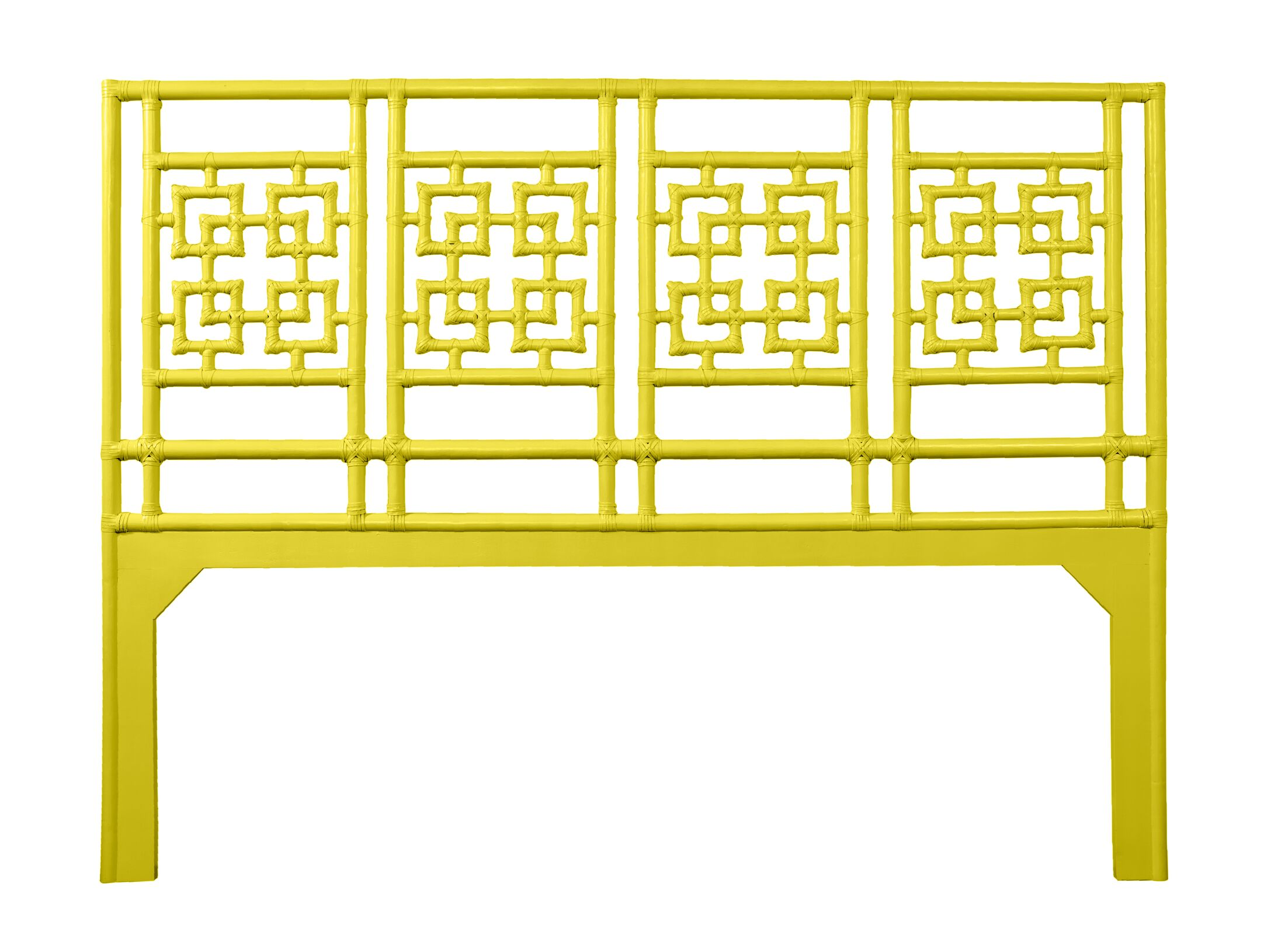 Palm Springs Open-Frame Headboard Color: Sunflower Yellow, Size: King