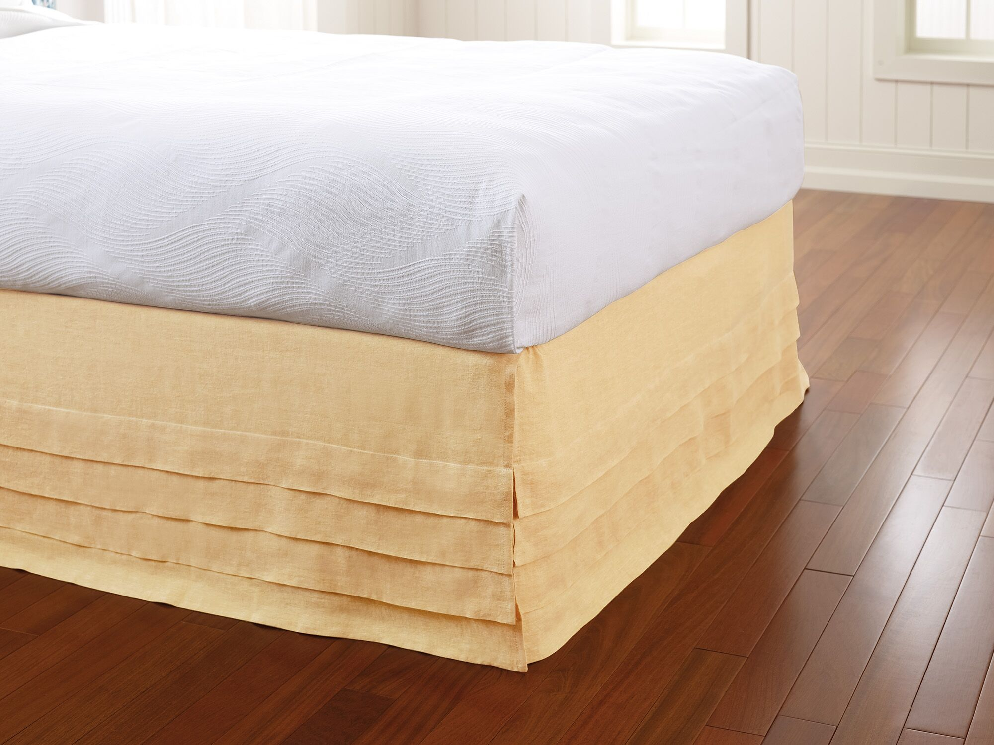 Waterfall Panel Bed Skirt Color: Sun, Size: Twin