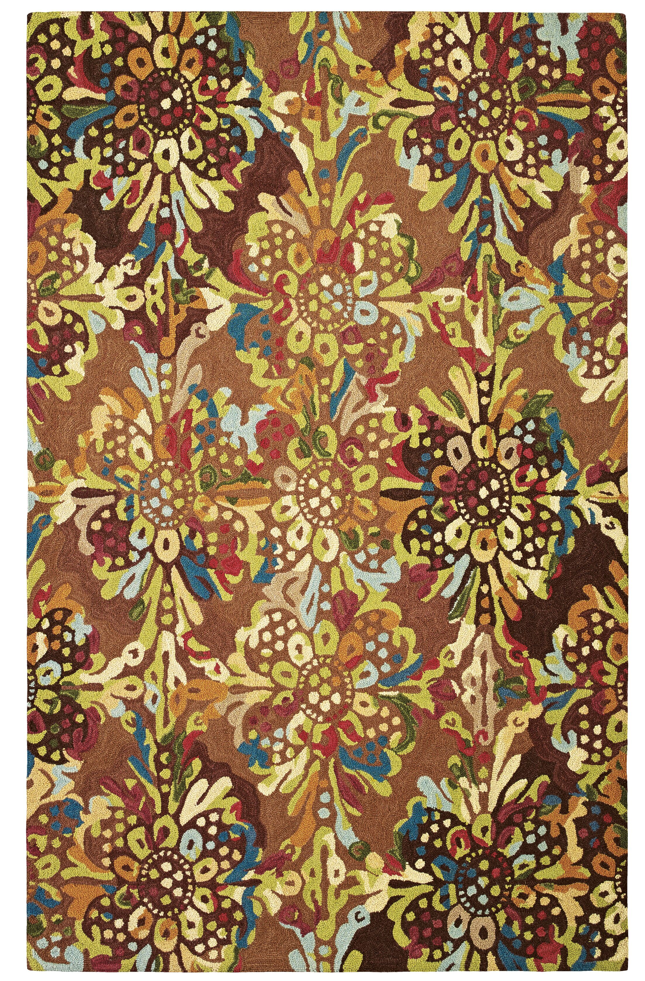 Drip and Splash Toffee Area Rug Rug Size: Runner 2'6