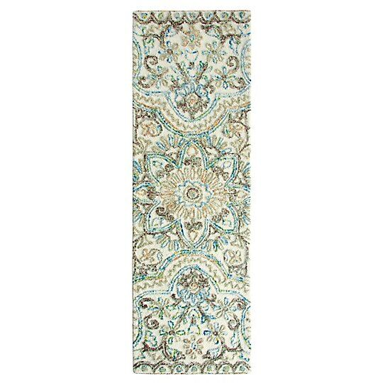 Agra Hand-Tufted Multicolor Area Rug Rug Size: Runner 2'6