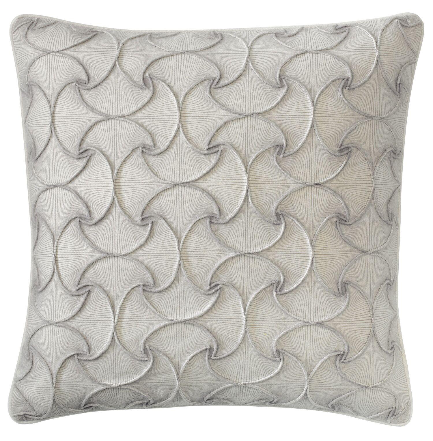 Deja Vu Throw Pillow Color: Platinum