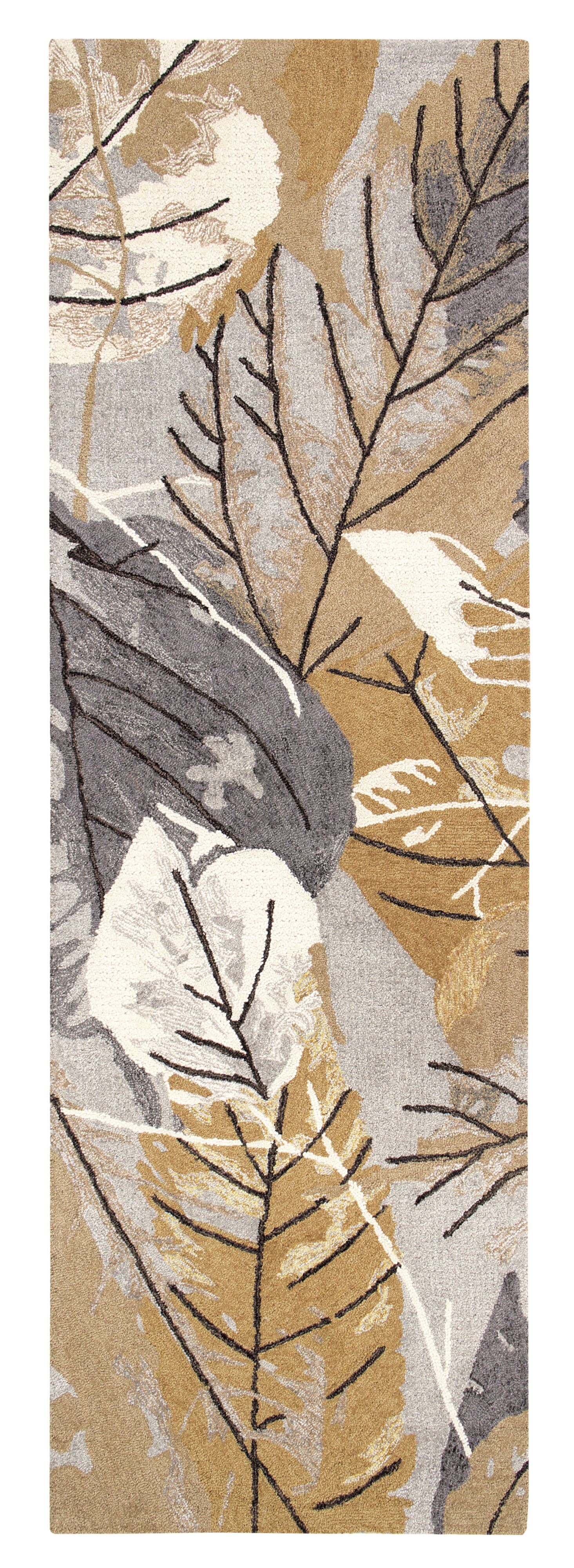 Hickory Hand-Tufted Gray/Brown Indoor Area Rug Rug Size: Runner 2'6