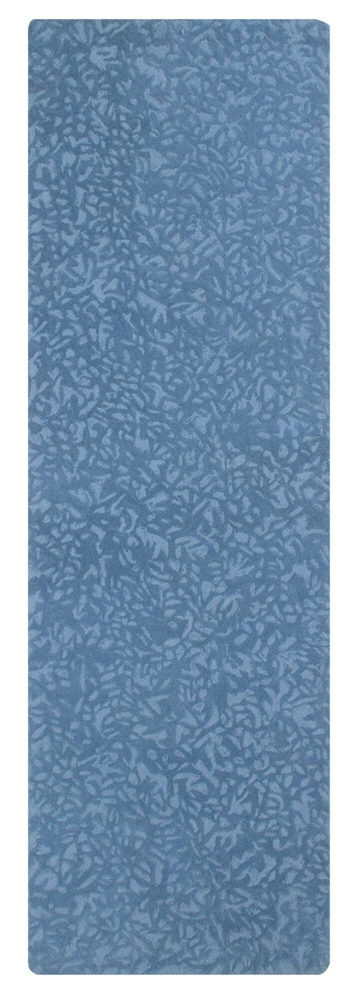 Crackle Hand-Tufted Blue Iris Area Rug Rug Size: Runner 2'6