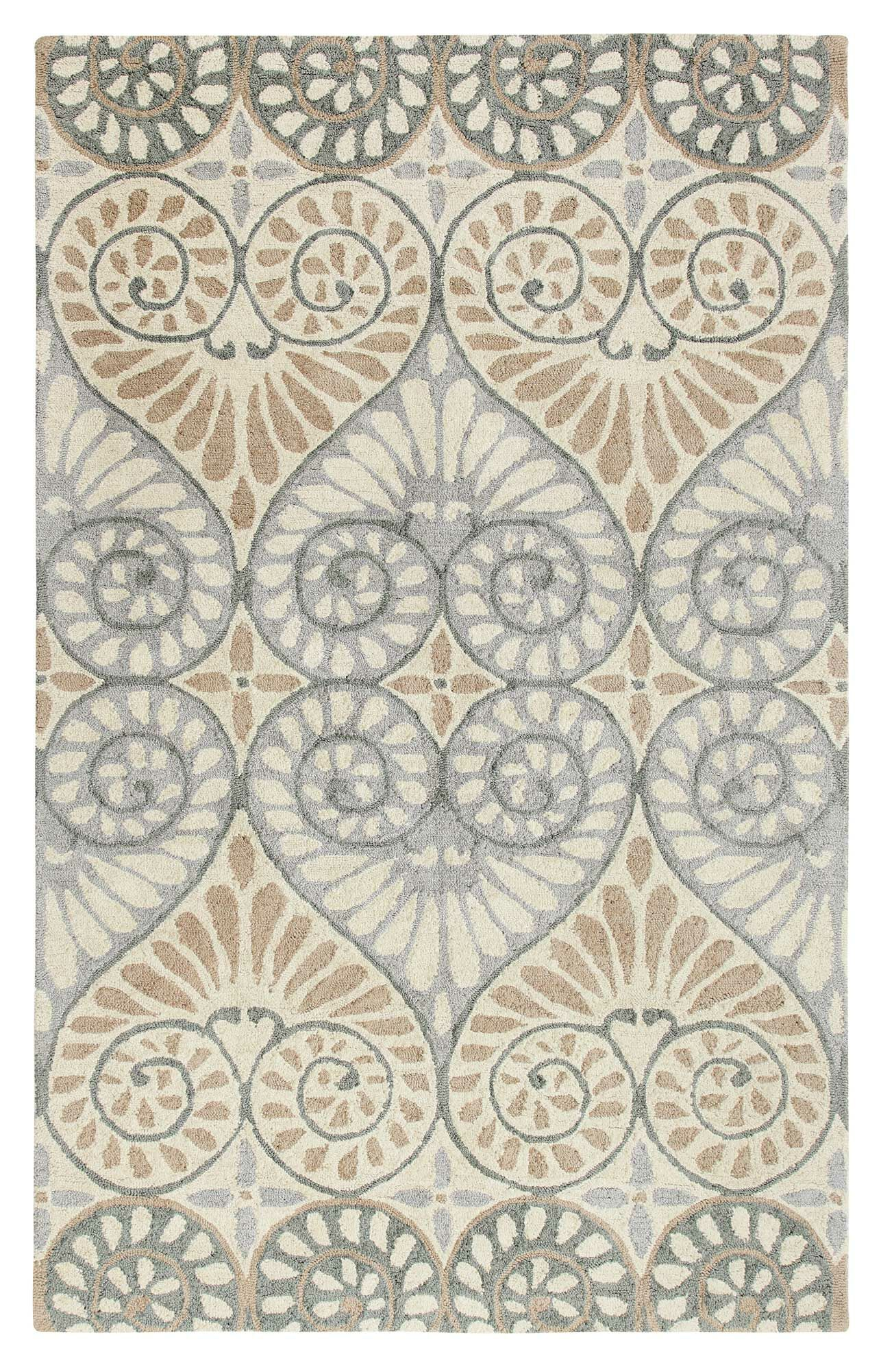 Dew Drop Hand-Tufted Pewter Area Rug Rug Size: Rectangle 8' x 10'